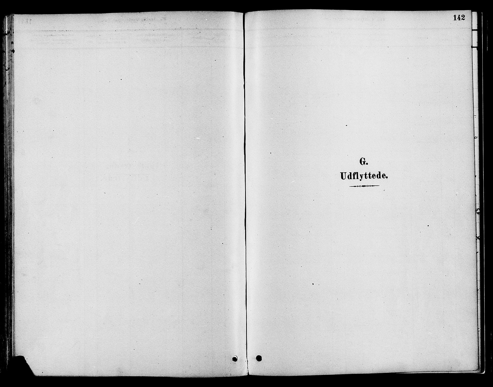 SAH, Gran prestekontor, Parish register (official) no. 16, 1880-1888, p. 142