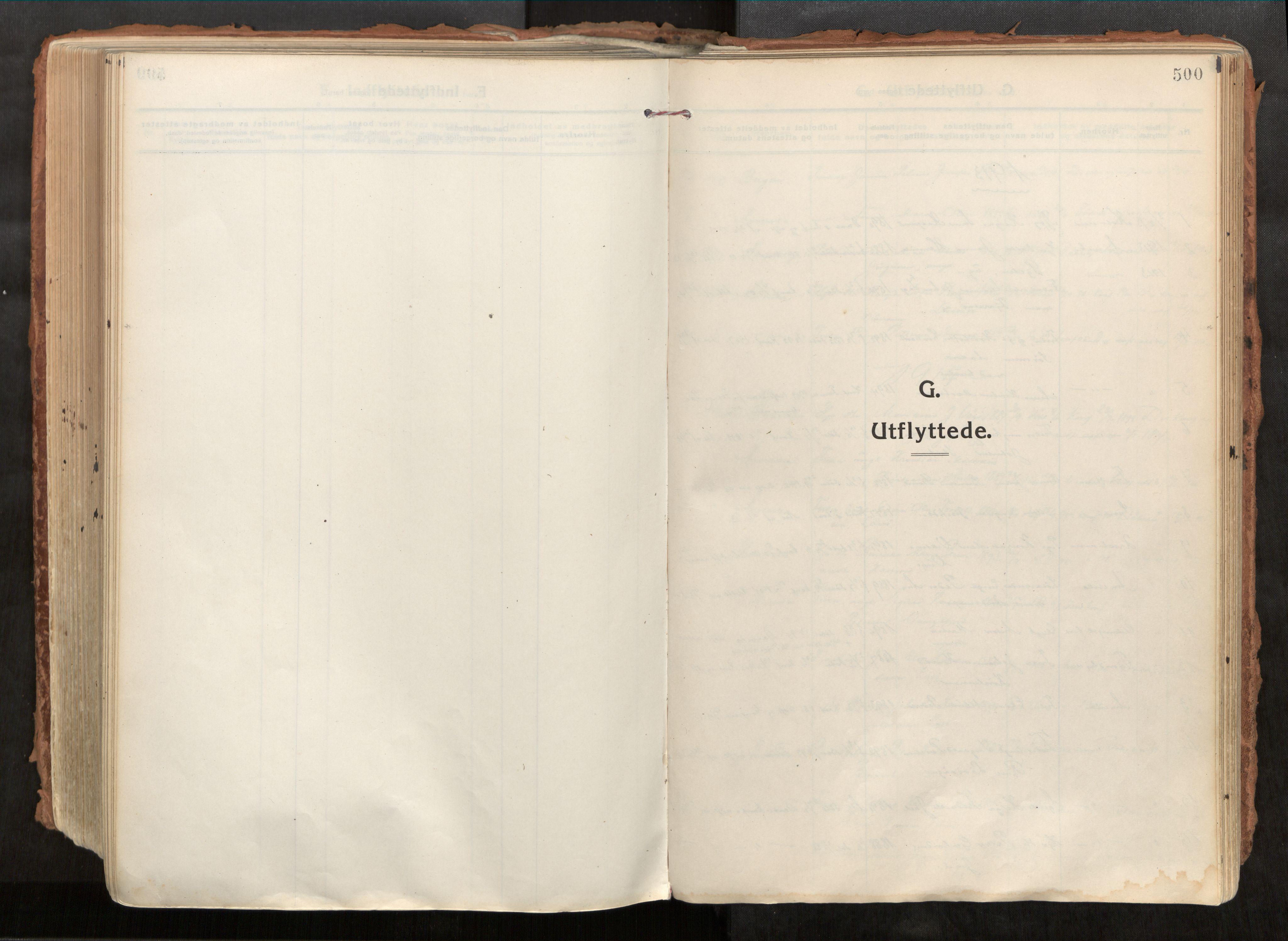 SAT, Vikna sokneprestkontor*, Parish register (official) no. 1, 1913-1934, p. 500