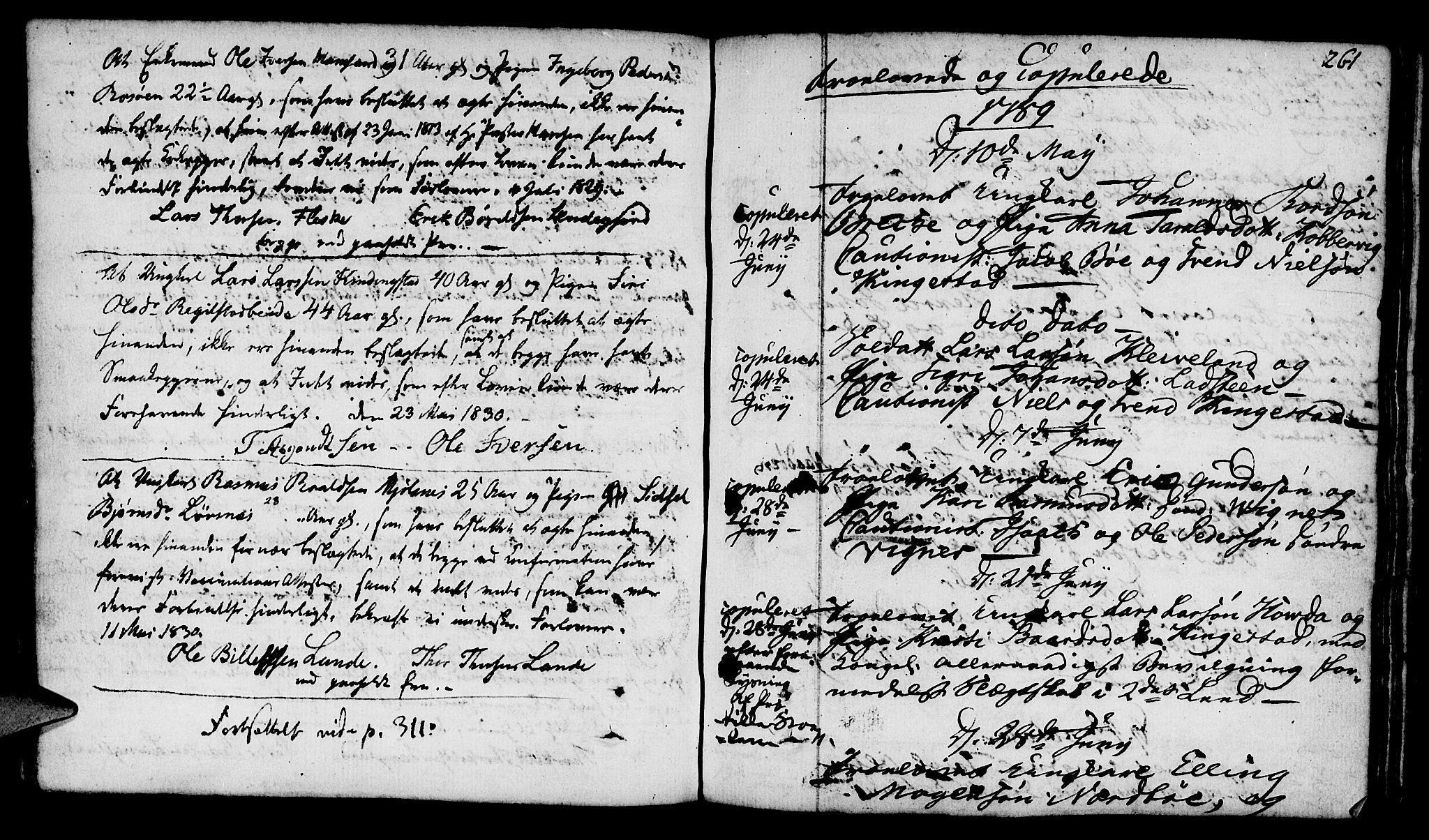 SAST, Finnøy sokneprestkontor, H/Ha/Haa/L0005: Parish register (official) no. A 5, 1773-1816, p. 261