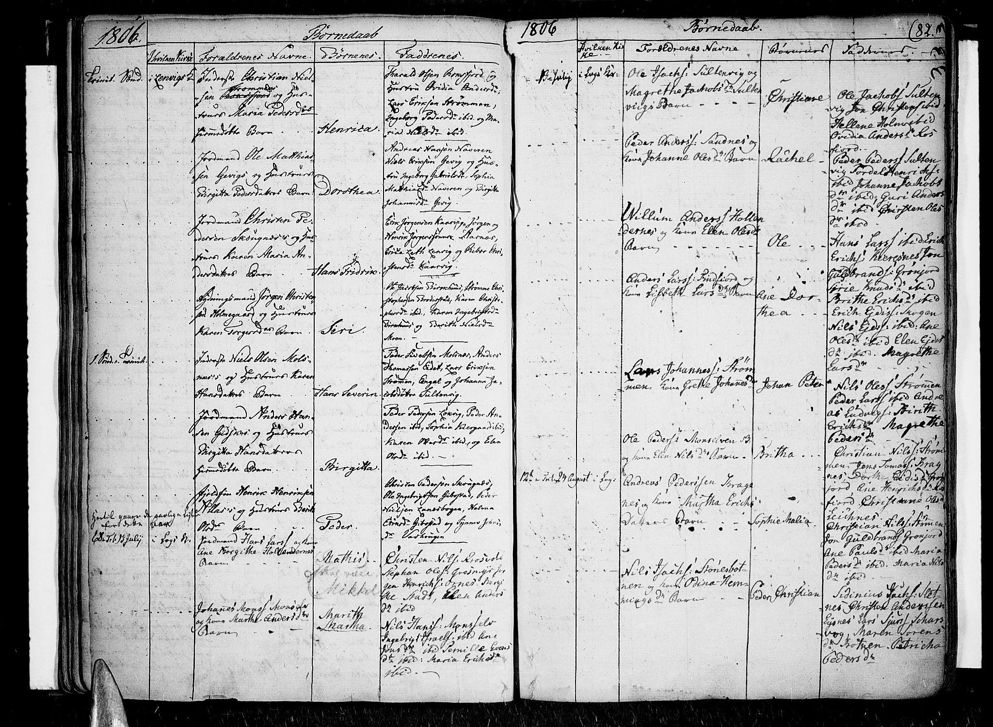 SATØ, Lenvik sokneprestembete, H/Ha: Parish register (official) no. 2, 1784-1820, p. 82