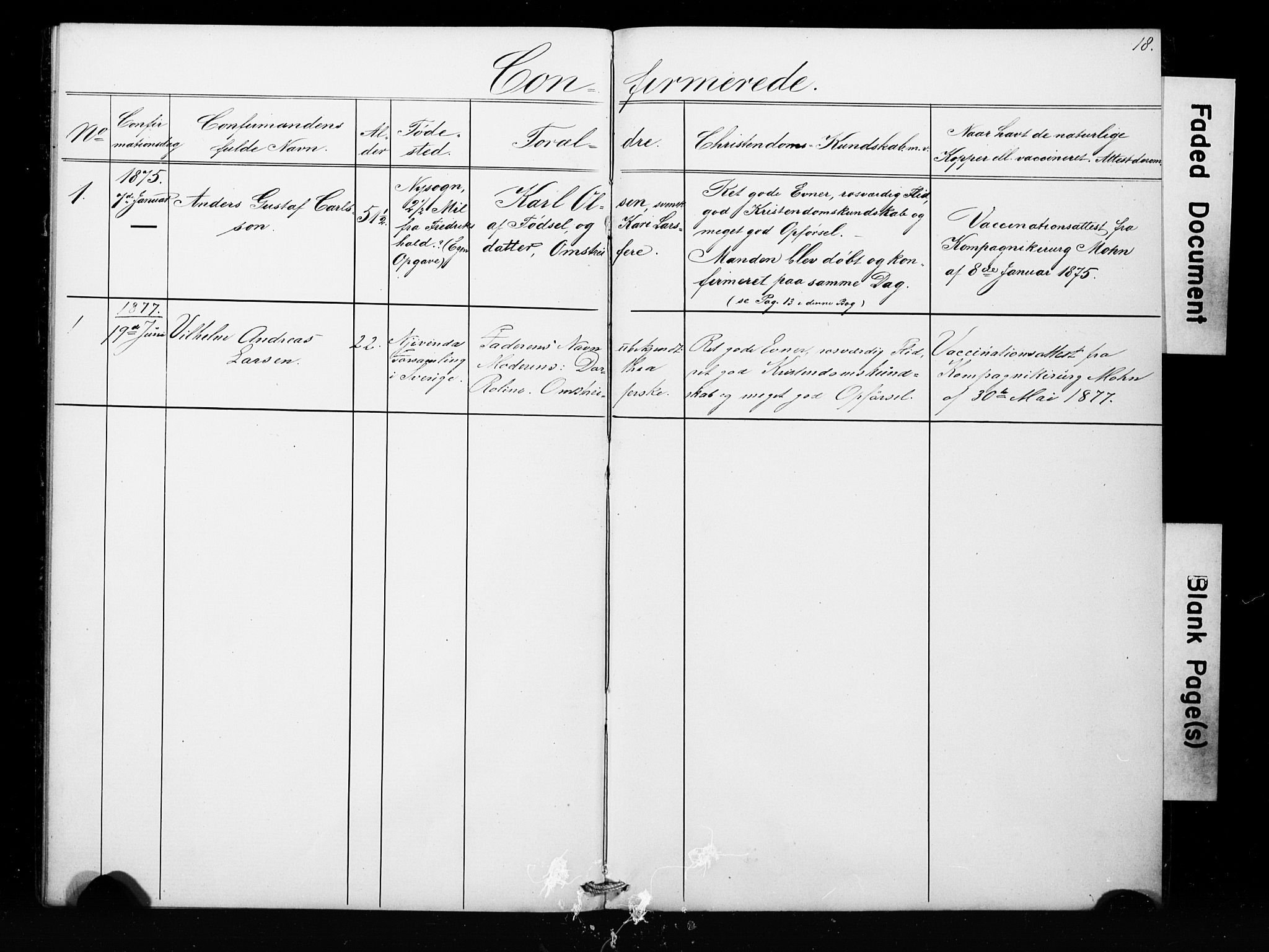 SAB, Bergens strafanstalts sokneprestembete*, Parish register (copy) no. A 1, 1874-1884, p. 18