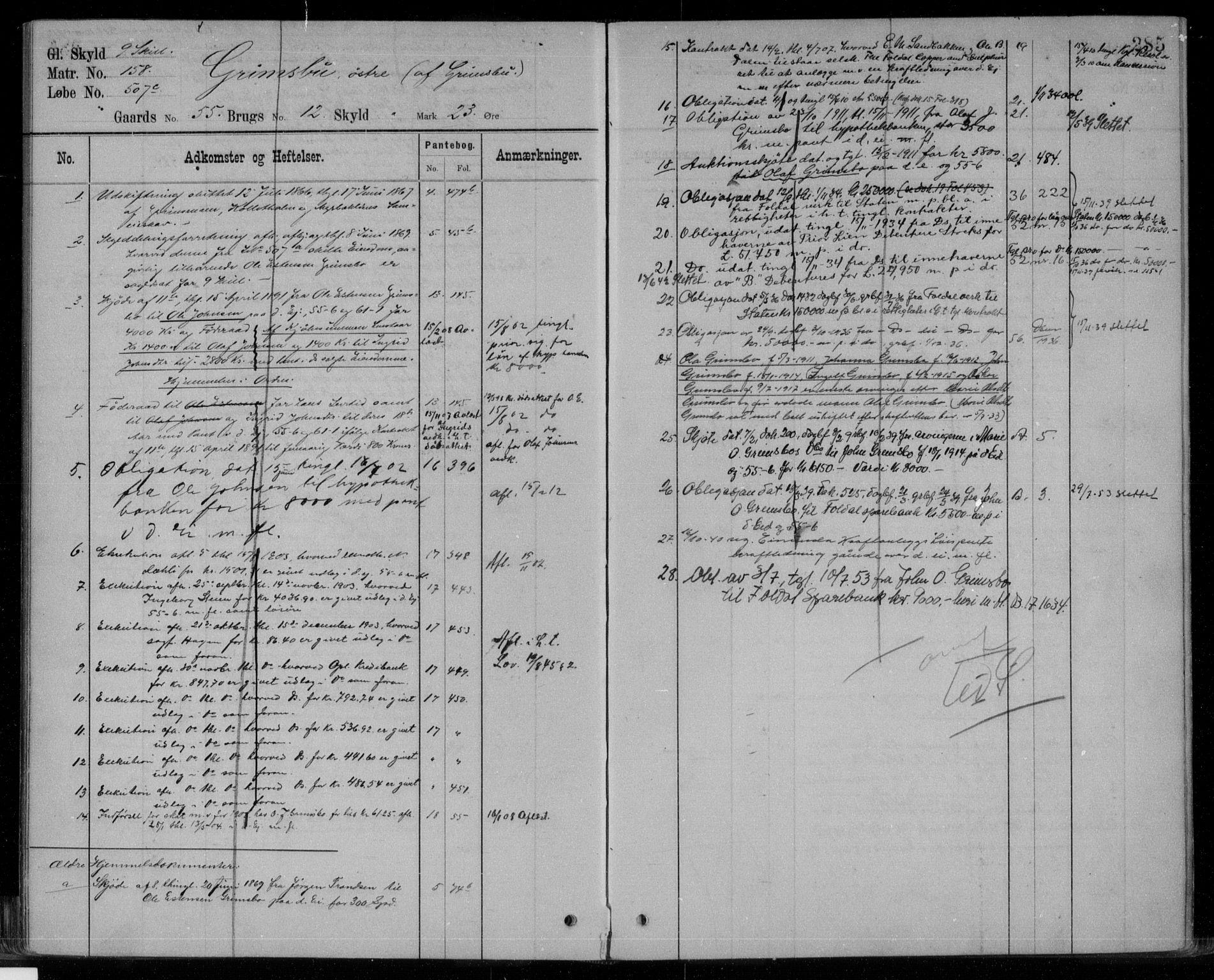 SAH, Nord-Østerdal tingrett, H/Ha/Haf/L0033: Mortgage register no. 3B, 1895, p. 285