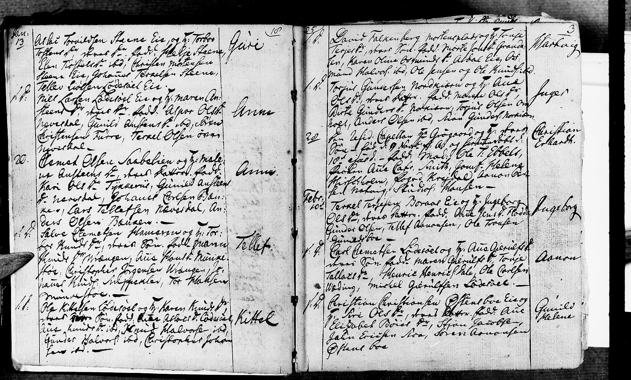 SAK, Øyestad sokneprestkontor, F/Fa/L0011: Parish register (official) no. A 11, 1805-1824, p. 3