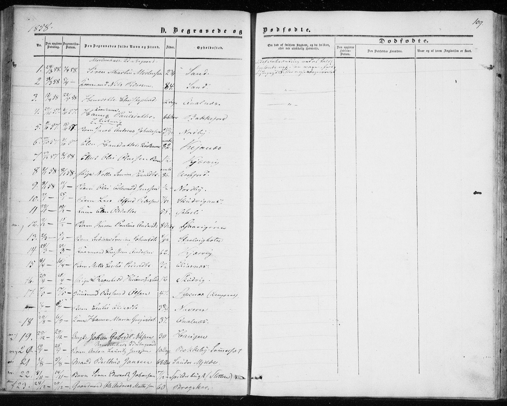 SATØ, Balsfjord sokneprestembete, Parish register (official) no. 1, 1858-1870, p. 109