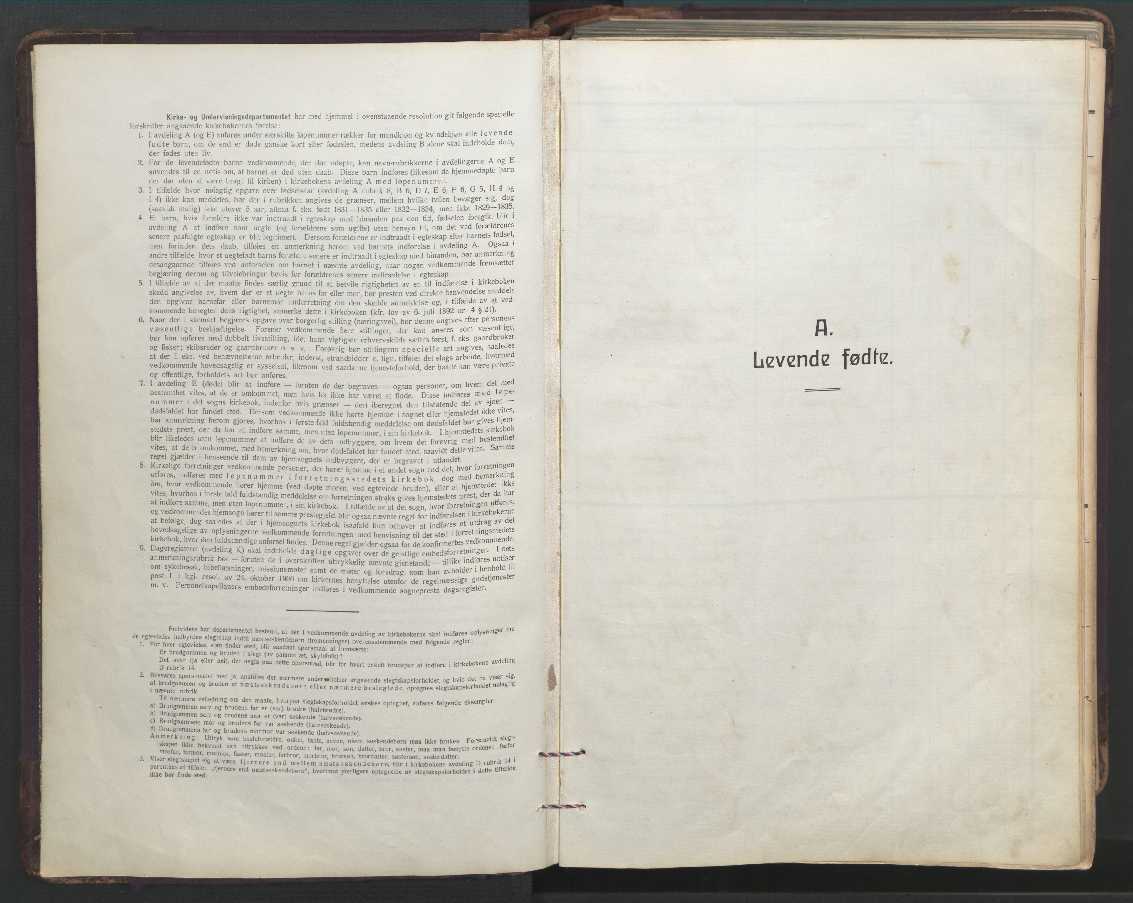 SAT, Ministerialprotokoller, klokkerbøker og fødselsregistre - Sør-Trøndelag, 683/L0951: Parish register (copy) no. 683C03, 1919-1970