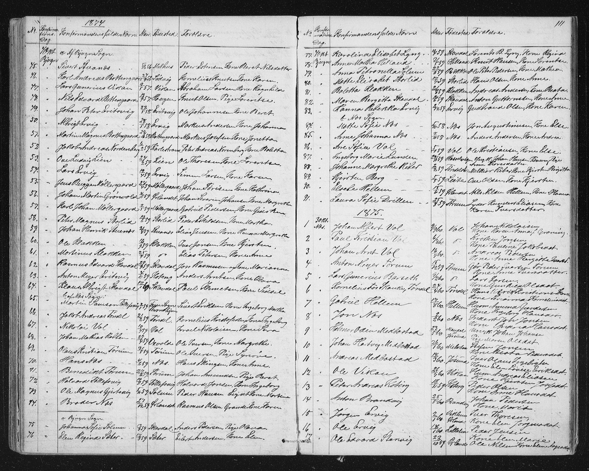 SAT, Ministerialprotokoller, klokkerbøker og fødselsregistre - Sør-Trøndelag, 651/L0647: Parish register (copy) no. 651C01, 1866-1914, p. 111