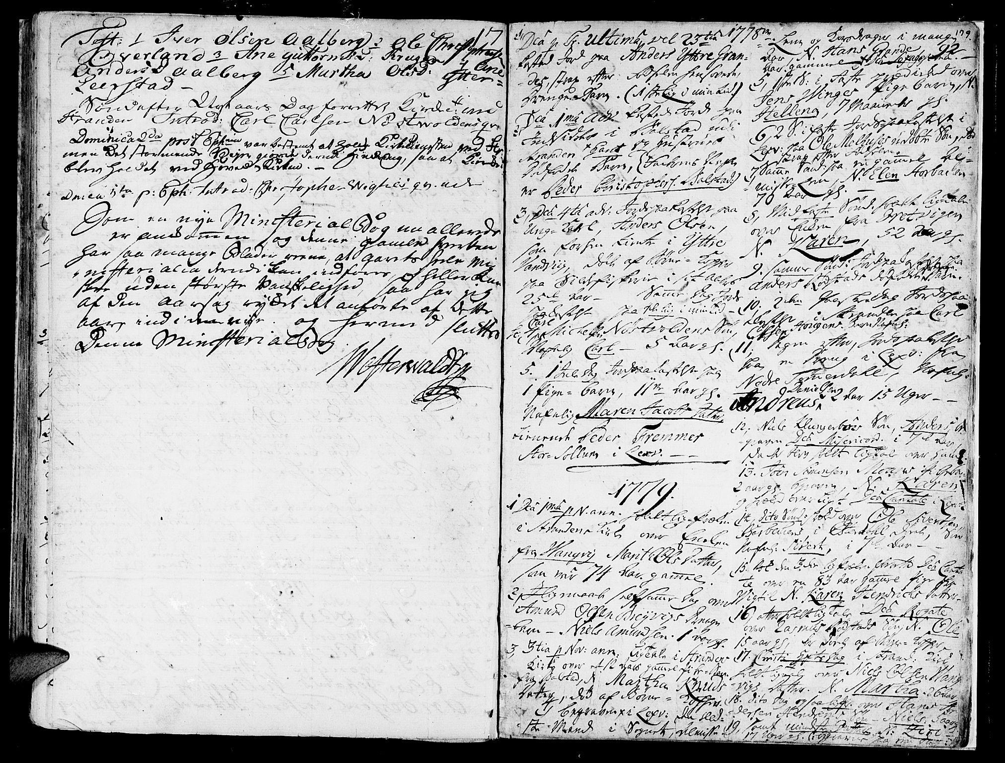 SAT, Ministerialprotokoller, klokkerbøker og fødselsregistre - Nord-Trøndelag, 701/L0003: Parish register (official) no. 701A03, 1751-1783, p. 179