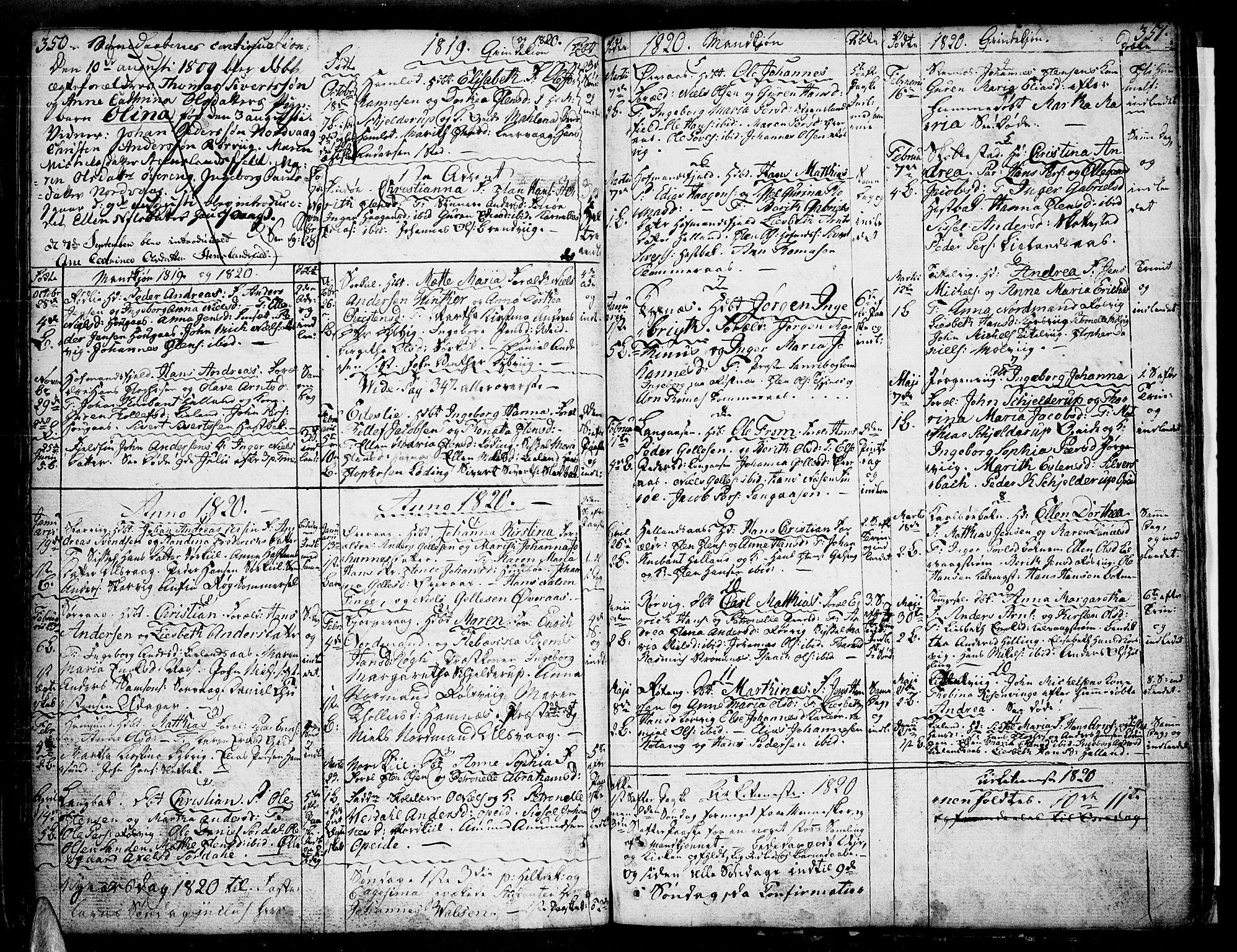 SAT, Ministerialprotokoller, klokkerbøker og fødselsregistre - Nordland, 859/L0841: Parish register (official) no. 859A01, 1766-1821, p. 350-351