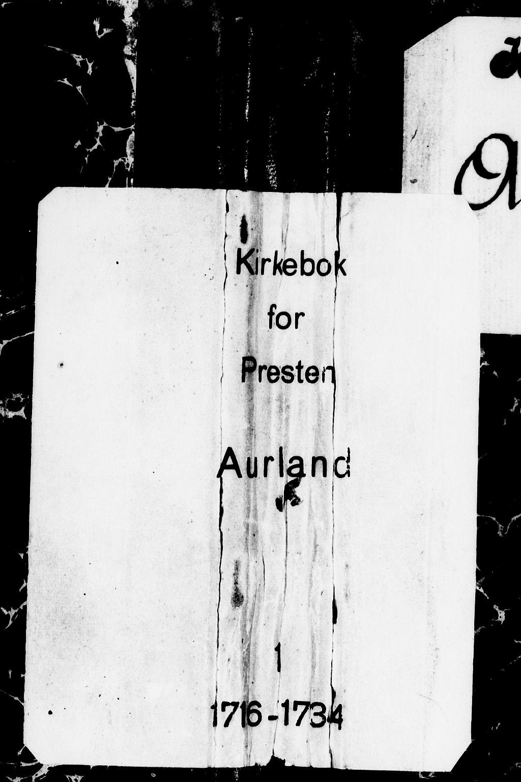 SAB, Aurland Sokneprestembete*, Parish register (official) no. A 1, 1716-1734