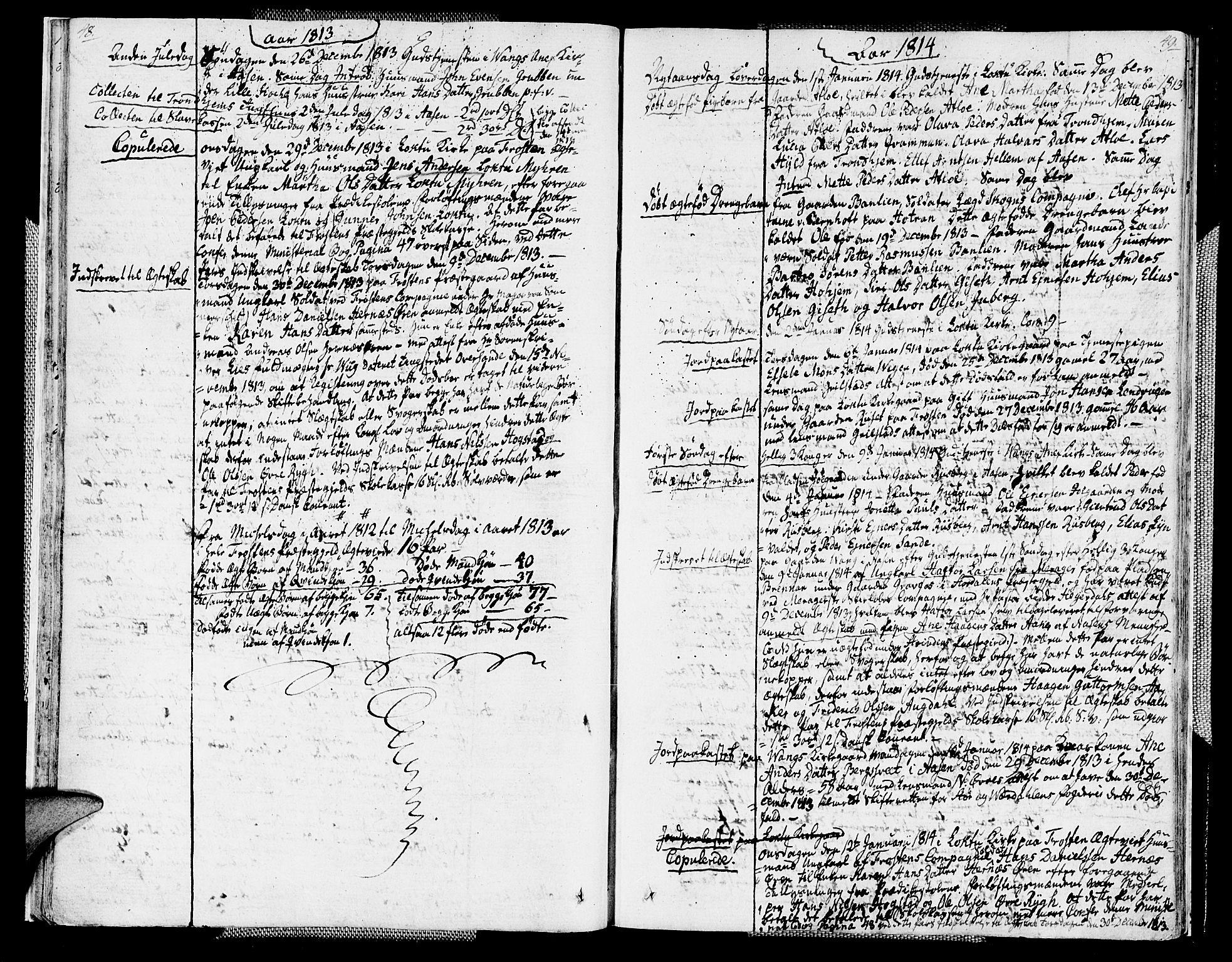 SAT, Ministerialprotokoller, klokkerbøker og fødselsregistre - Nord-Trøndelag, 713/L0111: Parish register (official) no. 713A03, 1812-1816, p. 48-49