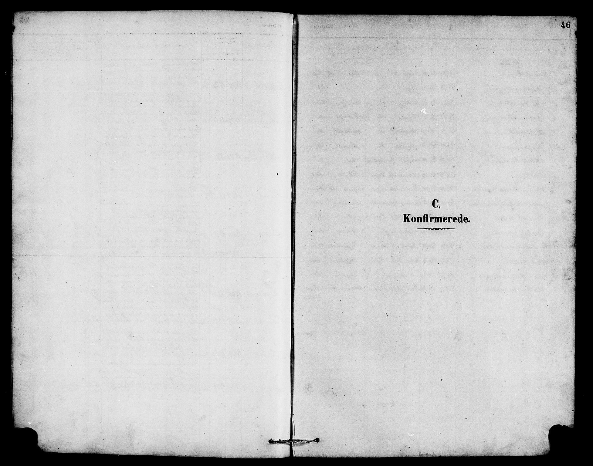 SAB, Hyllestad Sokneprestembete, Parish register (copy) no. B 2, 1889-1915, p. 46