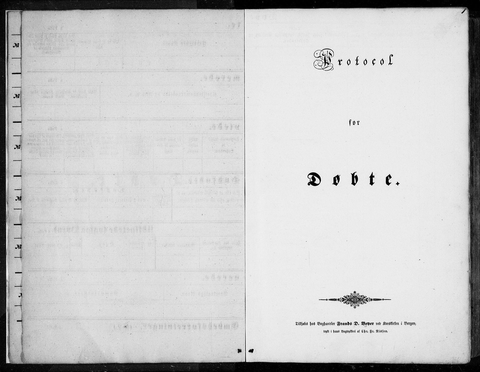 SAB, Os sokneprestembete*, Parish register (official) no. A 16, 1851-1859, p. 1