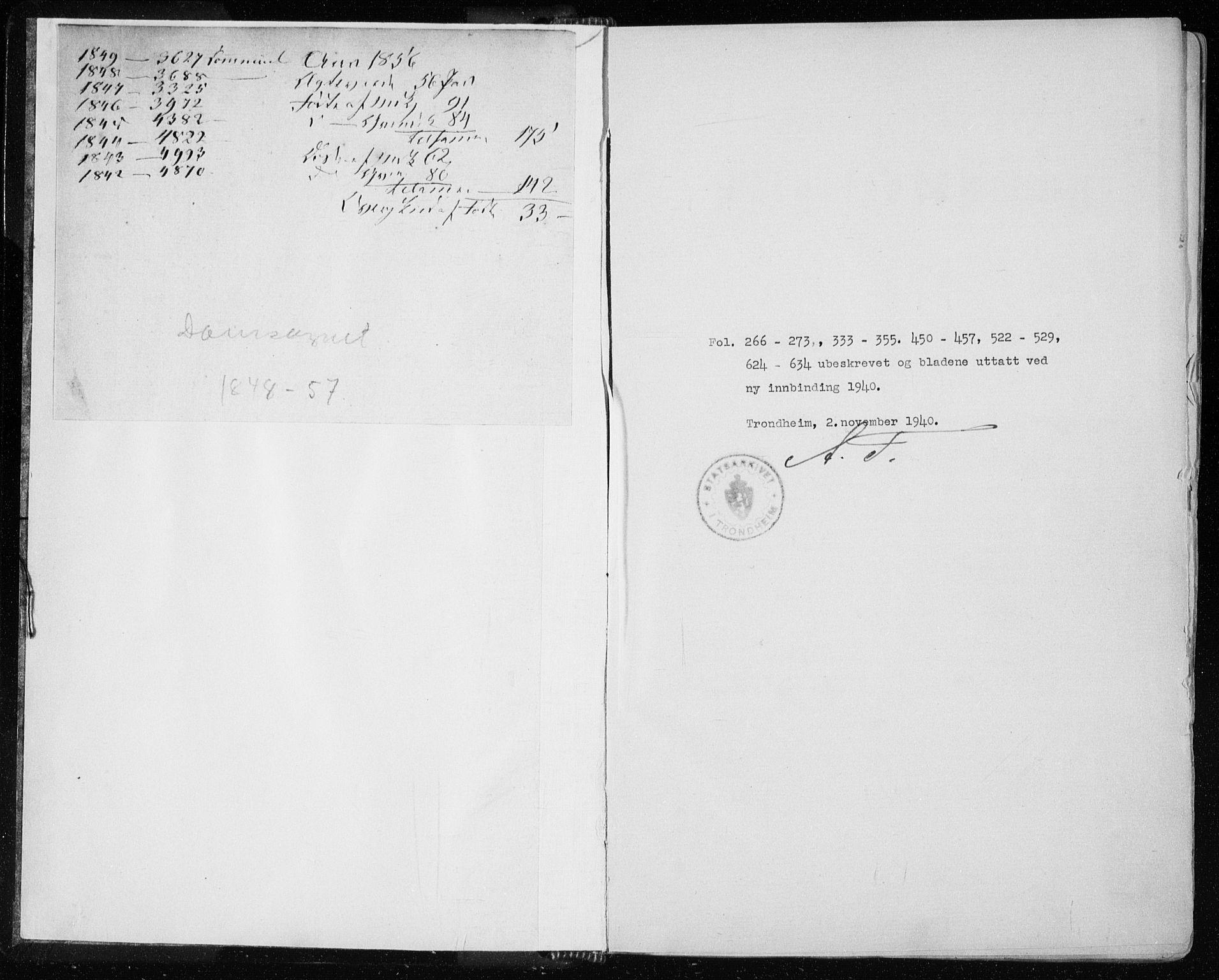 SAT, Ministerialprotokoller, klokkerbøker og fødselsregistre - Sør-Trøndelag, 601/L0051: Parish register (official) no. 601A19, 1848-1857