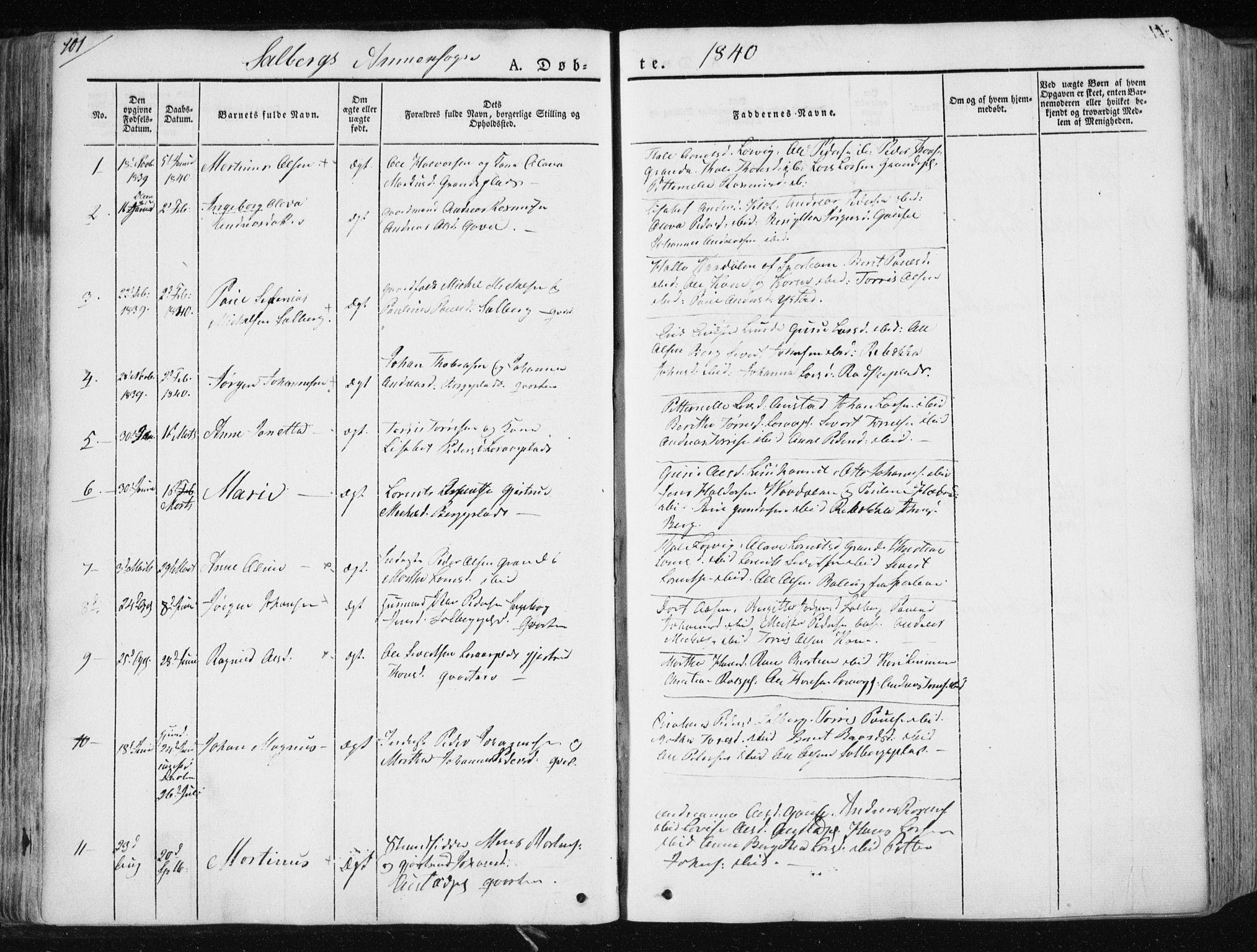 SAT, Ministerialprotokoller, klokkerbøker og fødselsregistre - Nord-Trøndelag, 730/L0280: Parish register (official) no. 730A07 /2, 1840-1854, p. 101