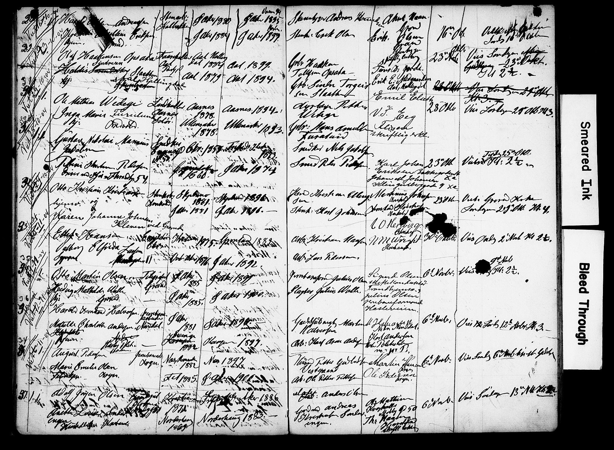 SAO, Østre Aker prestekontor Kirkebøker, H/Ha/L0006: Banns register no. I 6, 1901-1905