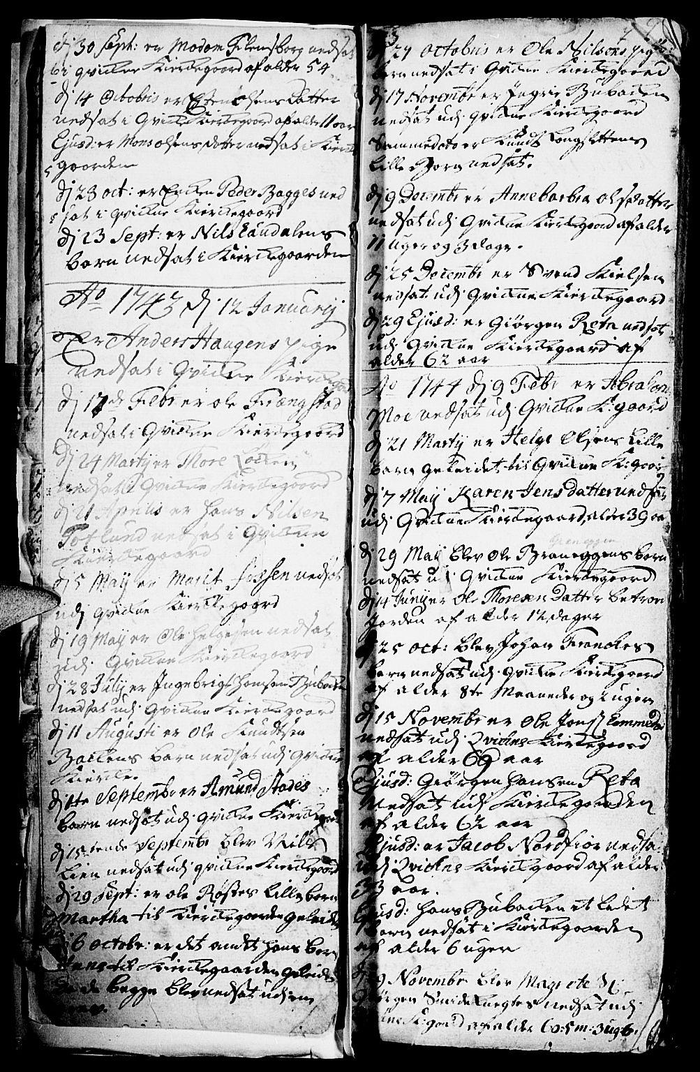 SAH, Kvikne prestekontor, Parish register (official) no. 1, 1740-1756, p. 6-7