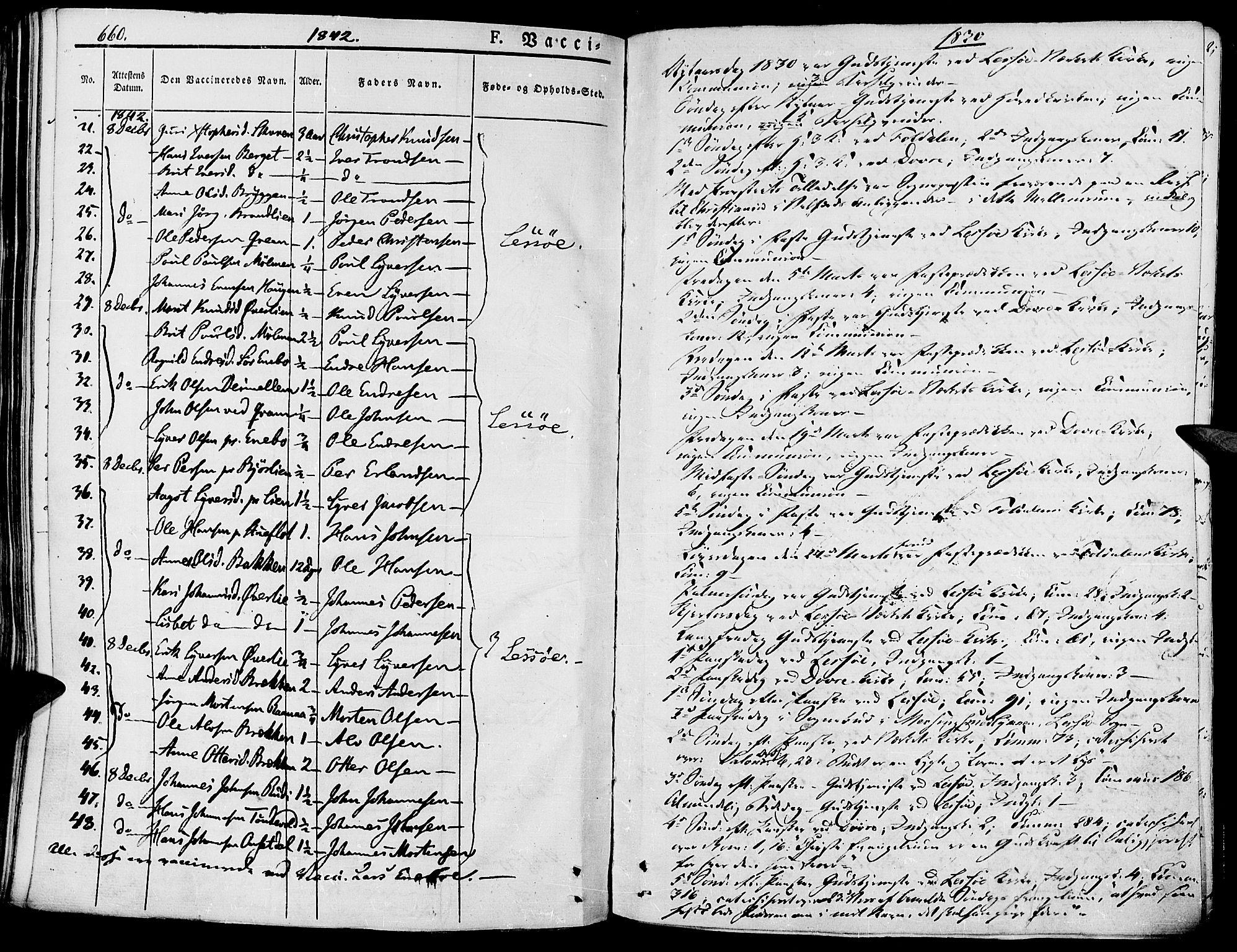 SAH, Lesja prestekontor, Parish register (official) no. 5, 1830-1842, p. 660