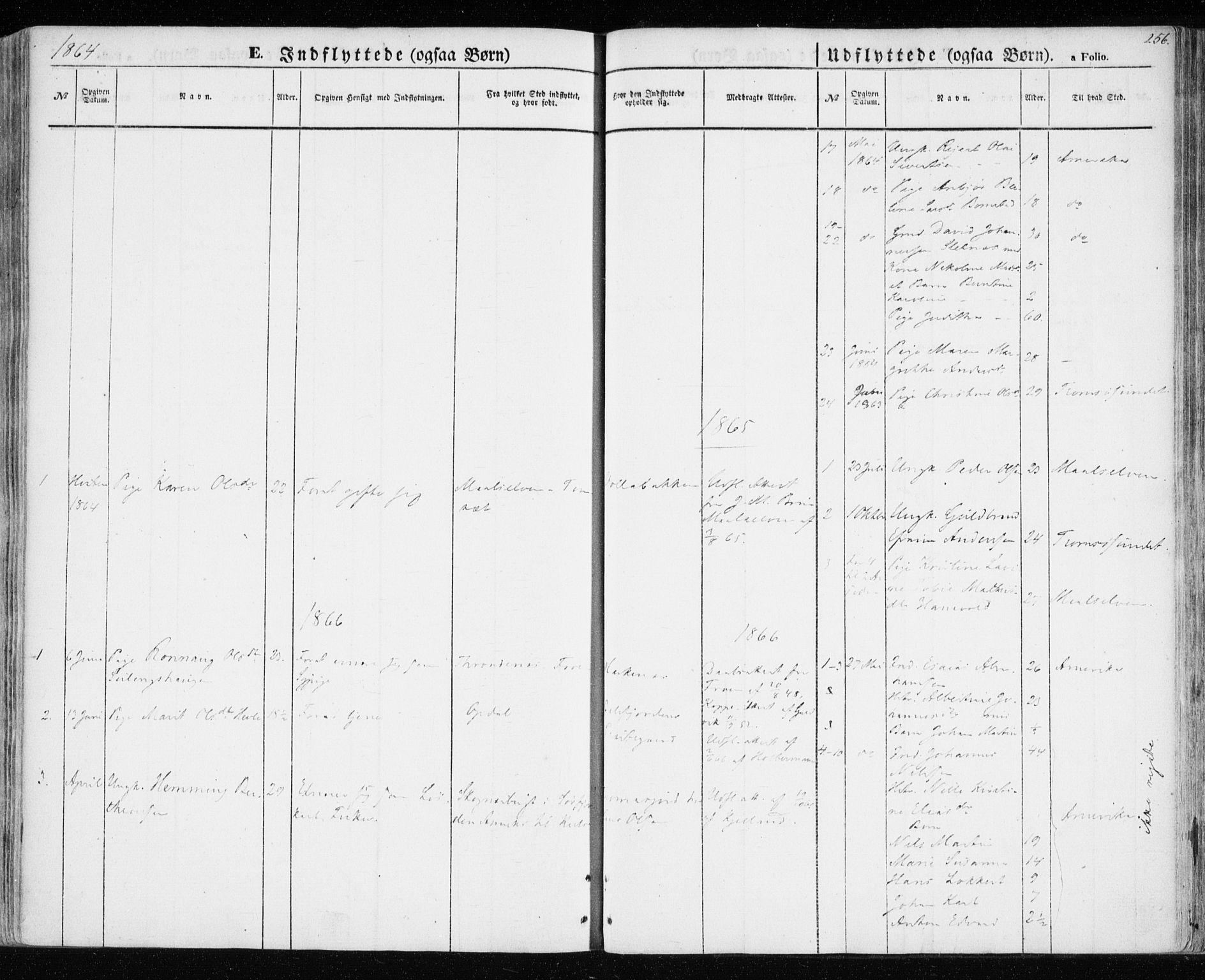 SATØ, Balsfjord sokneprestembete, Parish register (official) no. 3, 1856-1870, p. 256