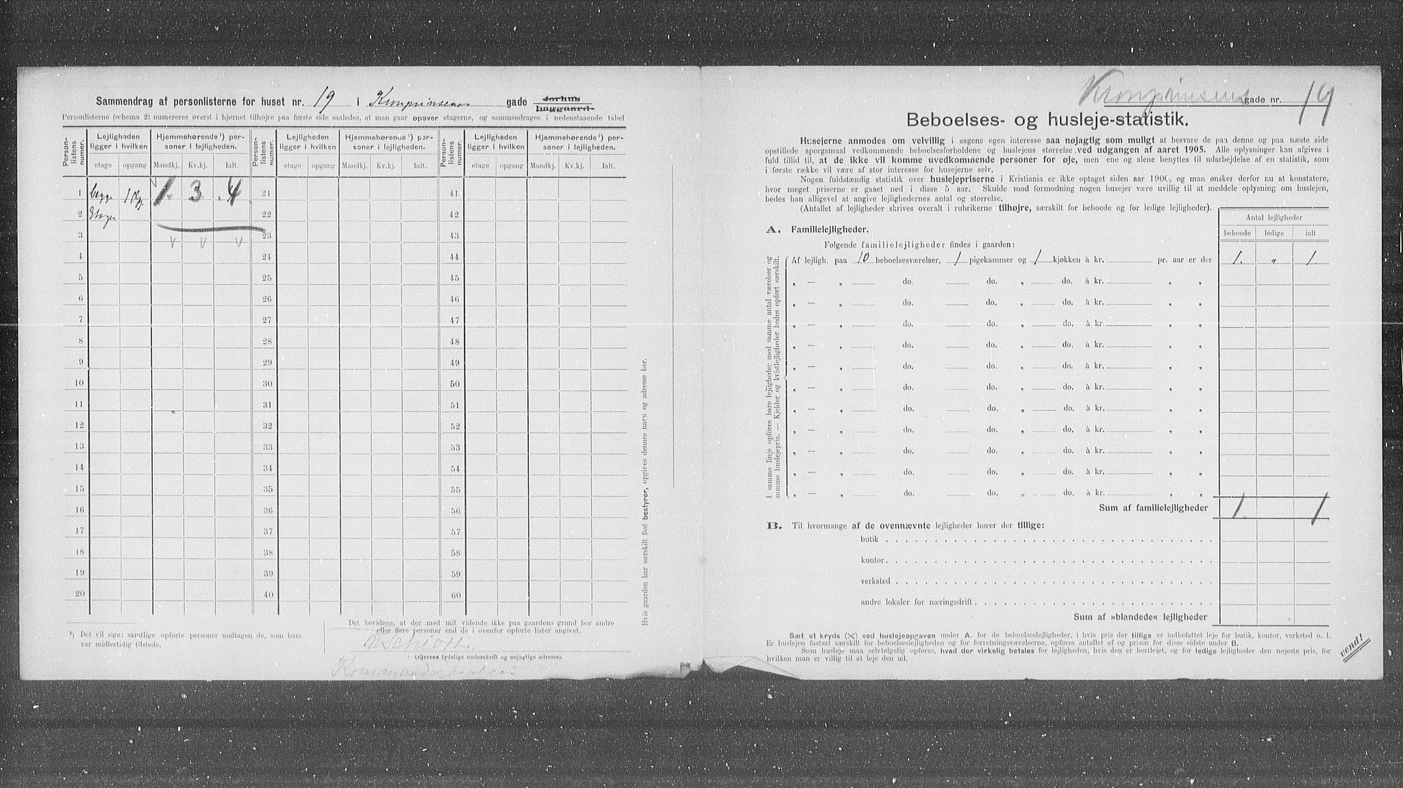 OBA, Municipal Census 1905 for Kristiania, 1905, p. 28883