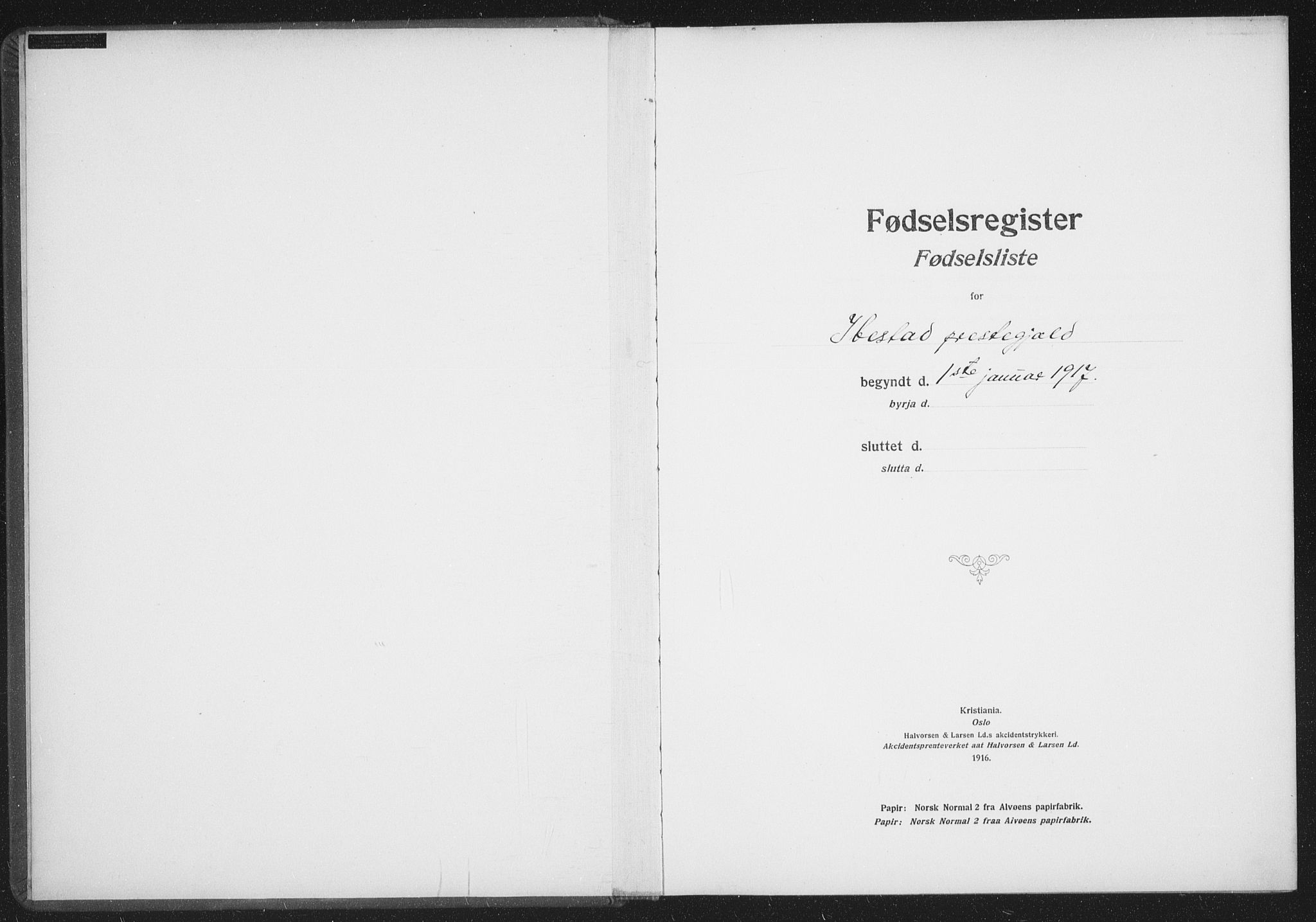 SATØ, Ibestad sokneprestembete, Birth register no. 61, 1917-1929