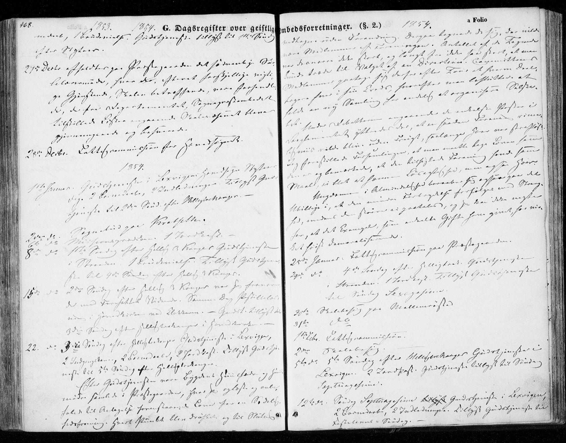 SAT, Ministerialprotokoller, klokkerbøker og fødselsregistre - Nord-Trøndelag, 701/L0007: Parish register (official) no. 701A07 /1, 1842-1854, p. 468