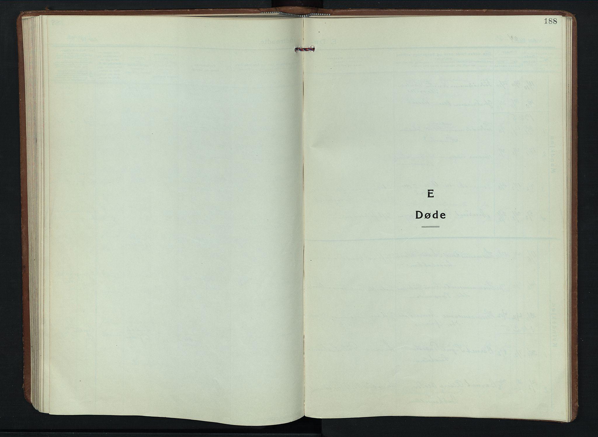 SAH, Sel prestekontor, Parish register (copy) no. 6, 1923-1953, p. 188