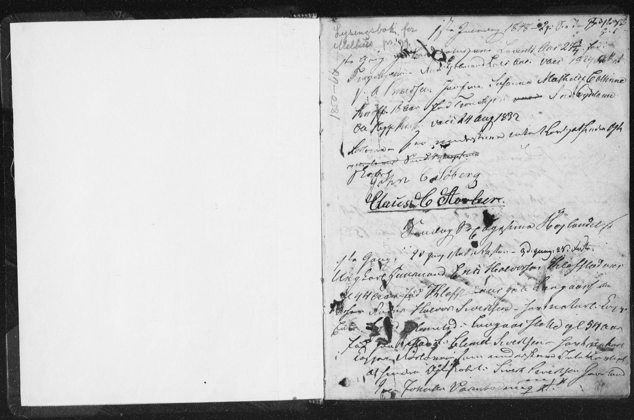 SAT, Arkivreferanse ukjent**, Banns register no. 691.I.1F9, 1850-1866