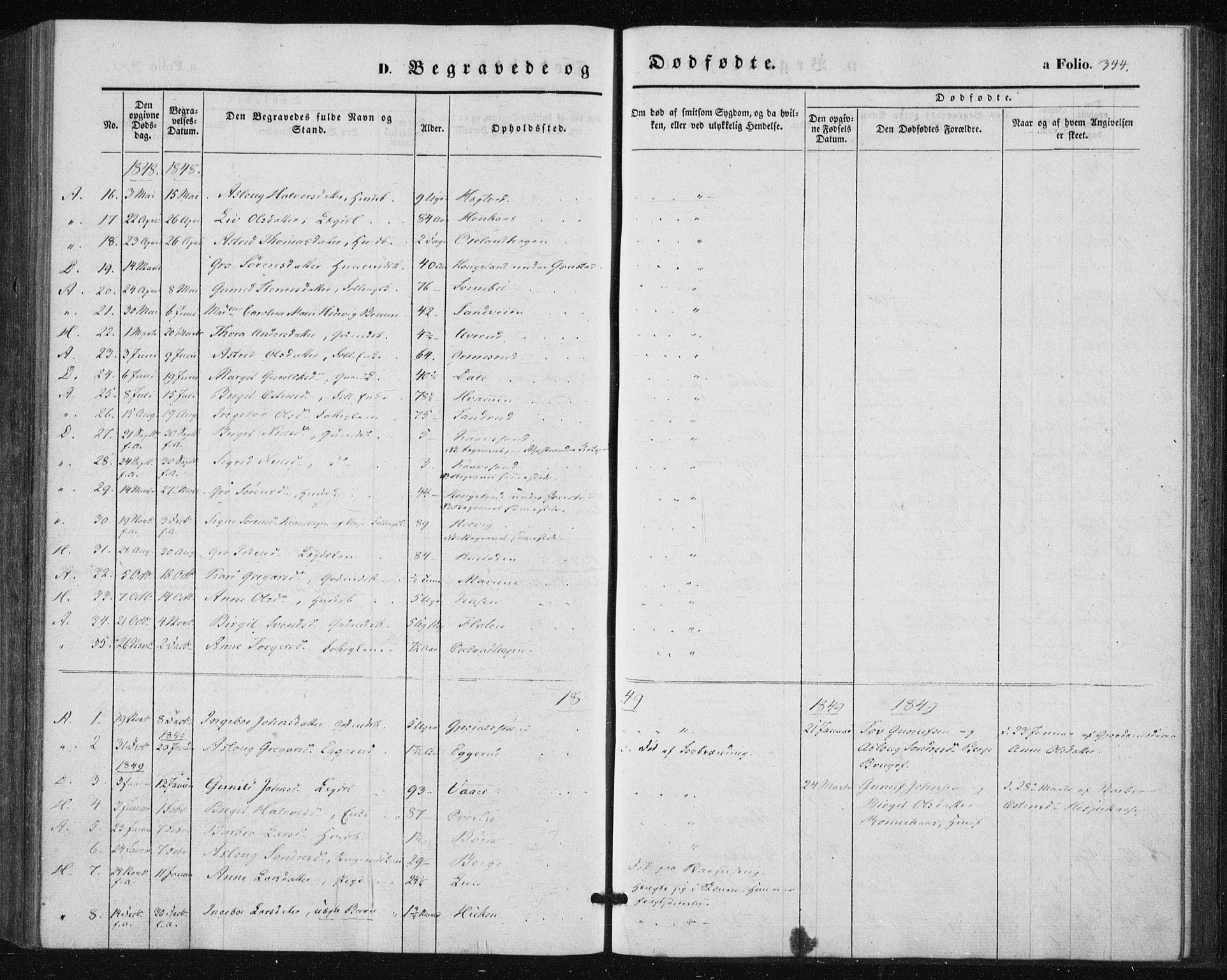 SAKO, Tinn kirkebøker, F/Fa/L0005: Parish register (official) no. I 5, 1844-1856, p. 344