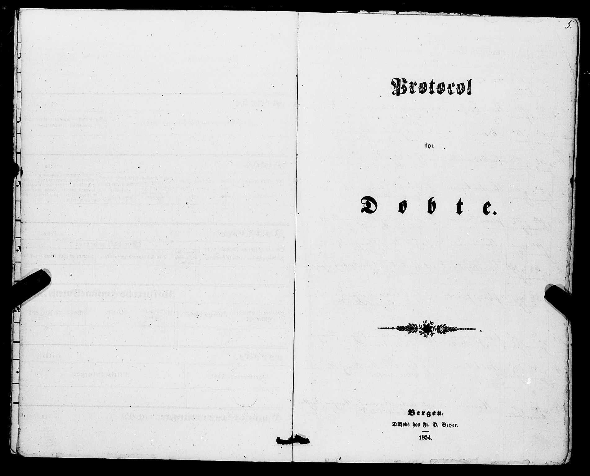 SAB, Os sokneprestembete*, Parish register (official) no. A 17, 1860-1873, p. 5