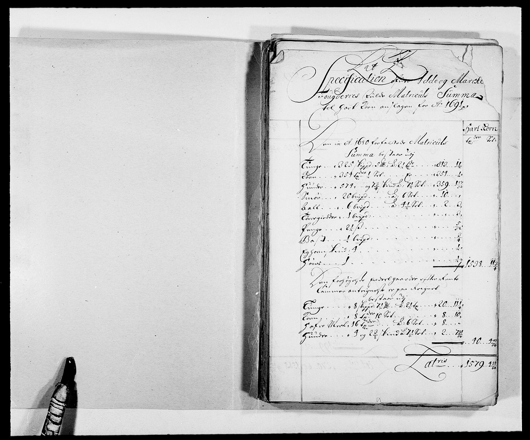 RA, Rentekammeret inntil 1814, Reviderte regnskaper, Fogderegnskap, R01/L0010: Fogderegnskap Idd og Marker, 1690-1691, p. 295