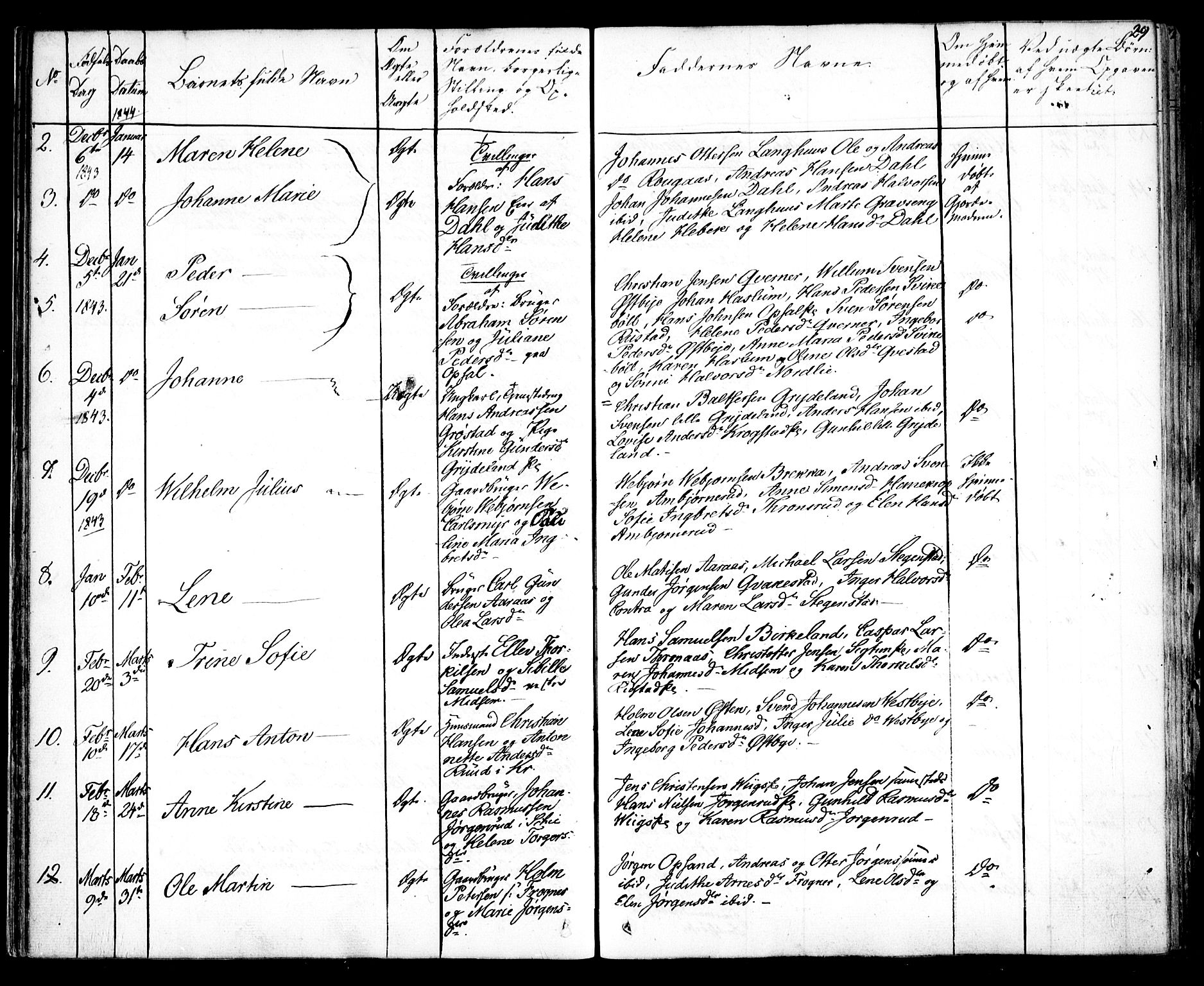 SAO, Kråkstad prestekontor Kirkebøker, F/Fa/L0005: Parish register (official) no. I 5, 1837-1847, p. 29