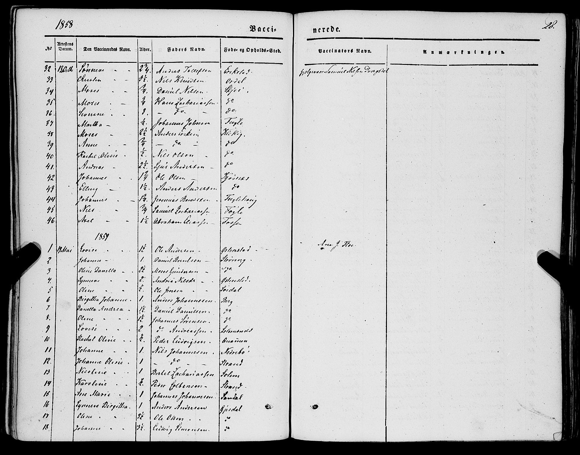 SAB, Jølster sokneprestembete, H/Haa/Haaa/L0010: Parish register (official) no. A 10, 1847-1865, p. 28
