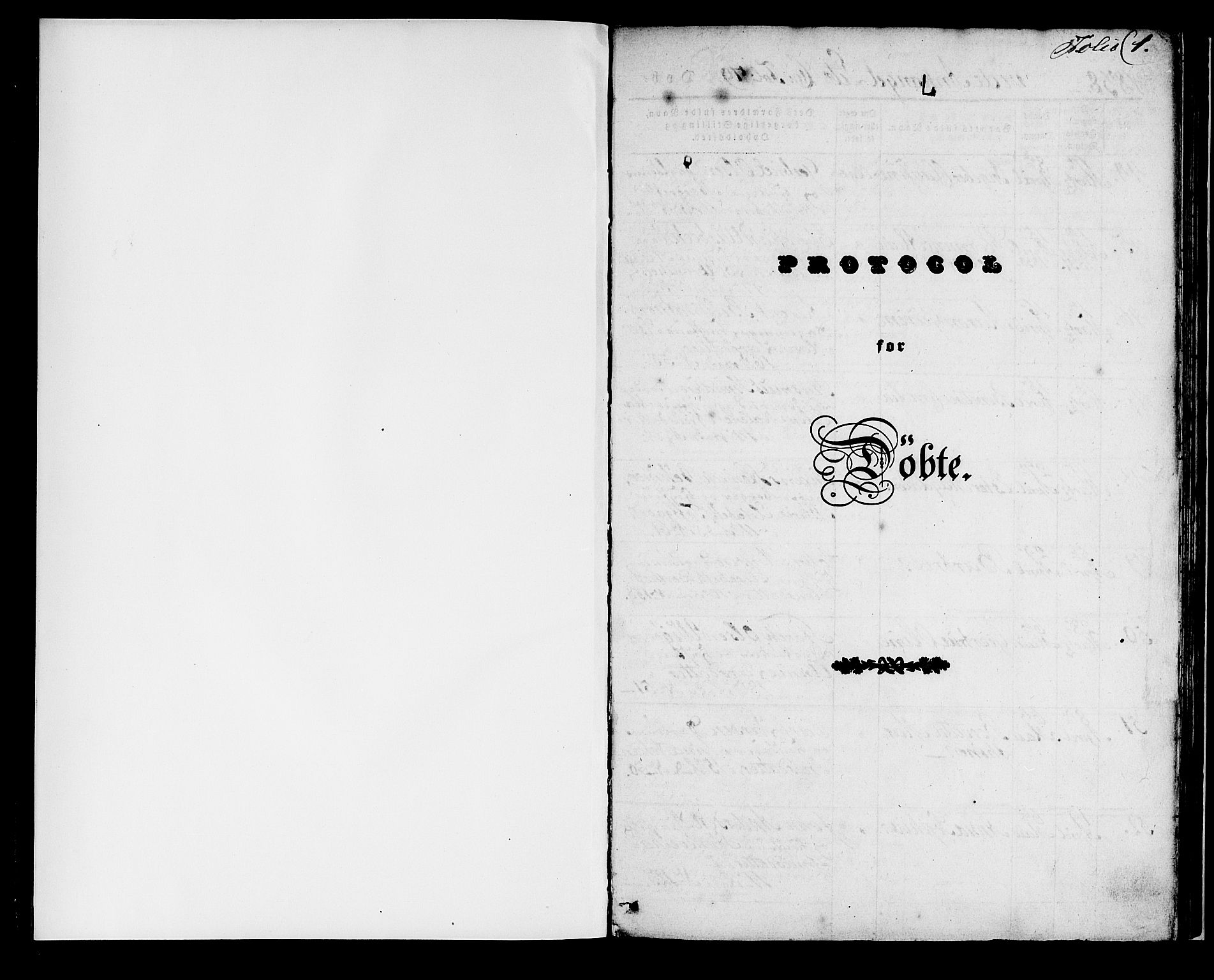 SAB, Domkirken Sokneprestembete, H/Haa/L0018: Parish register (official) no. B 1, 1838-1840, p. 1