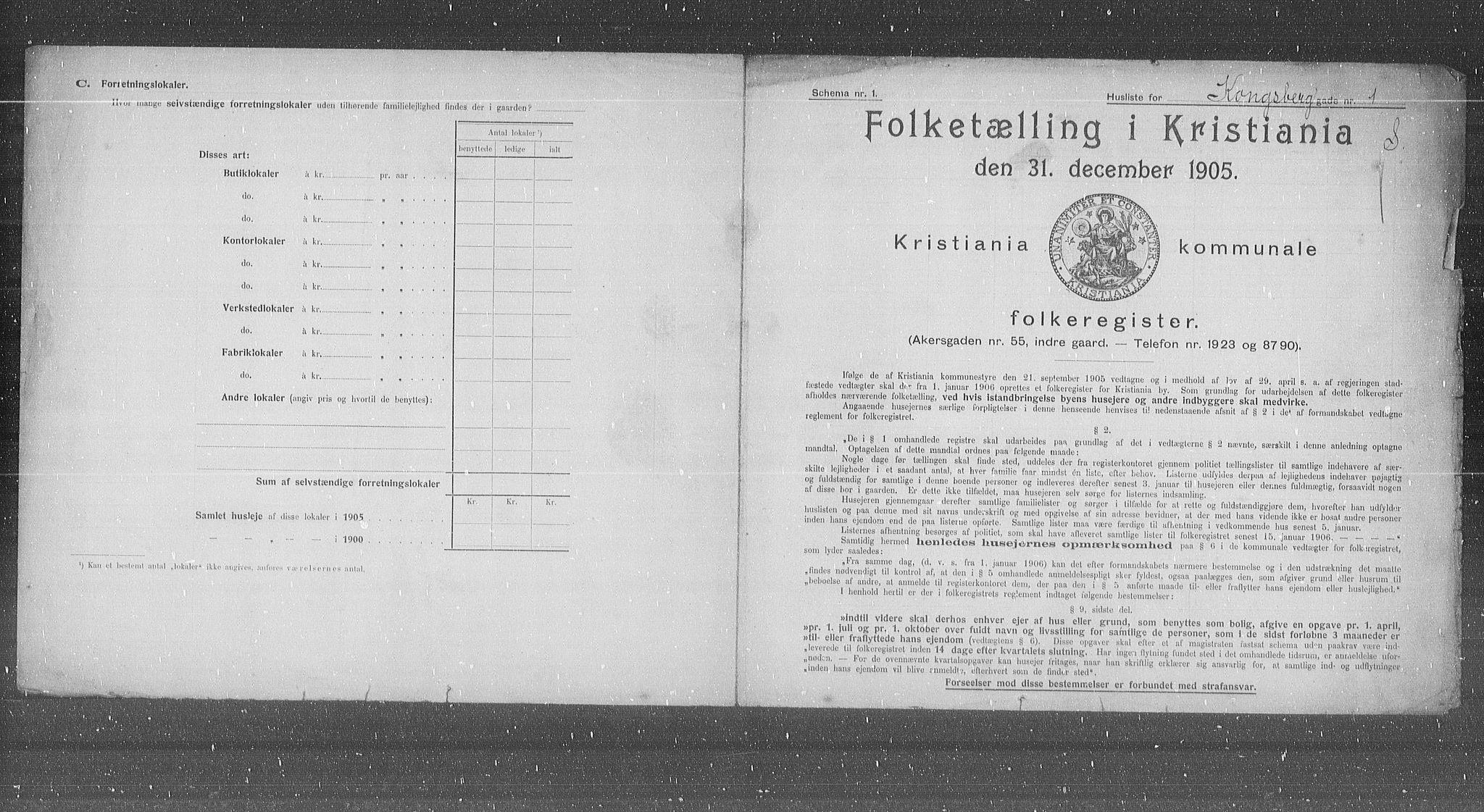 OBA, Municipal Census 1905 for Kristiania, 1905, p. 27763