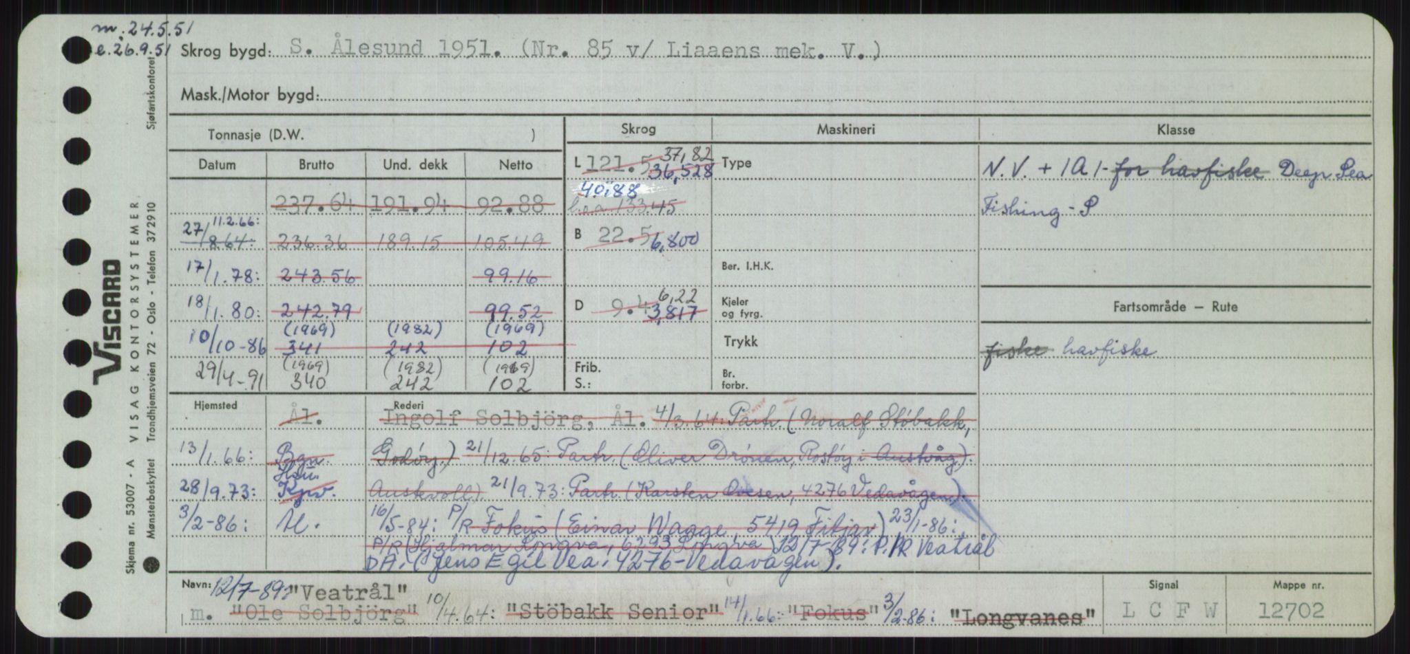 RA, Sjøfartsdirektoratet med forløpere, Skipsmålingen, H/Ha/L0006: Fartøy, Sver-Å, p. 193