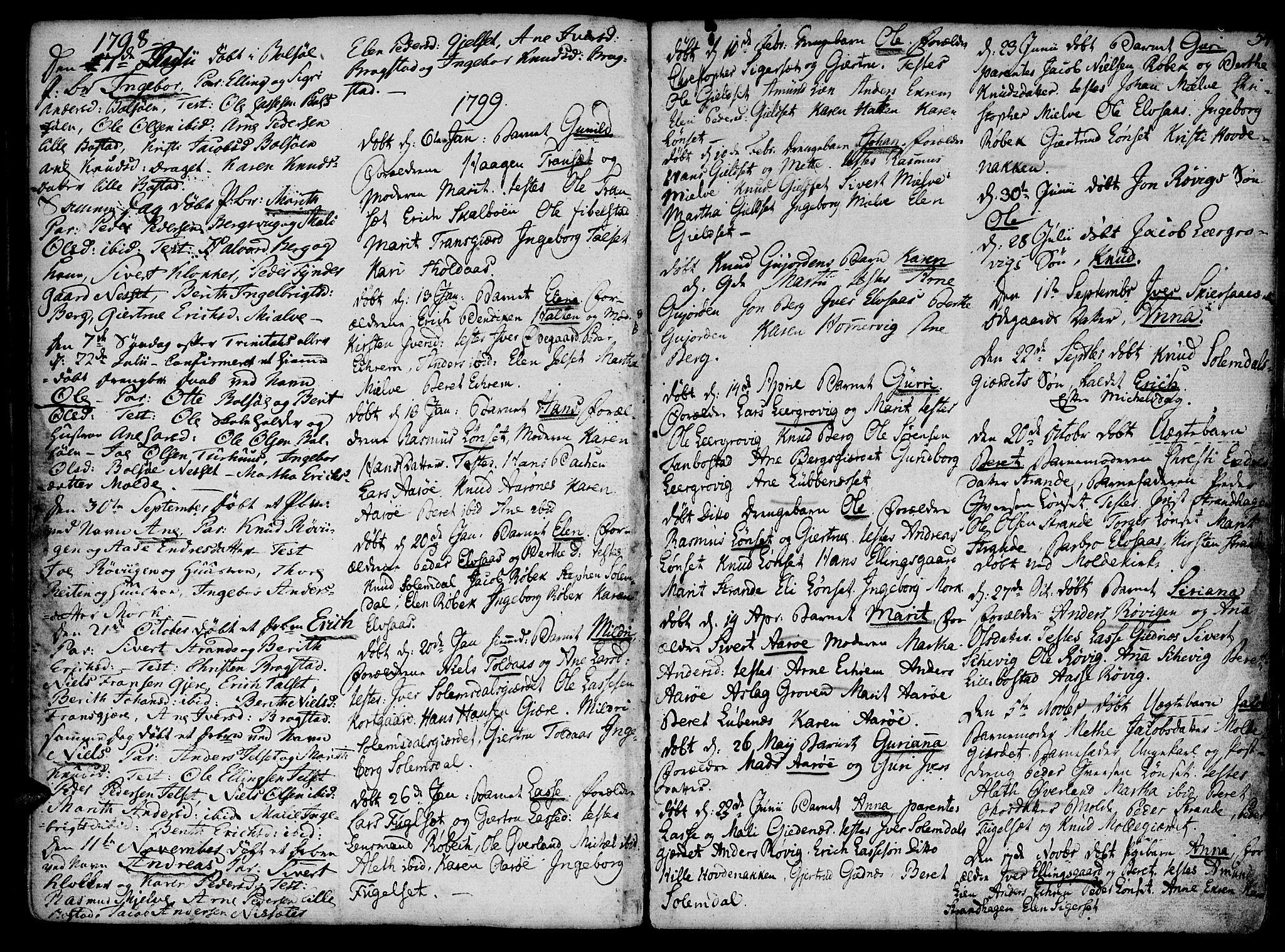 SAT, Ministerialprotokoller, klokkerbøker og fødselsregistre - Møre og Romsdal, 555/L0649: Parish register (official) no. 555A02 /1, 1795-1821, p. 54