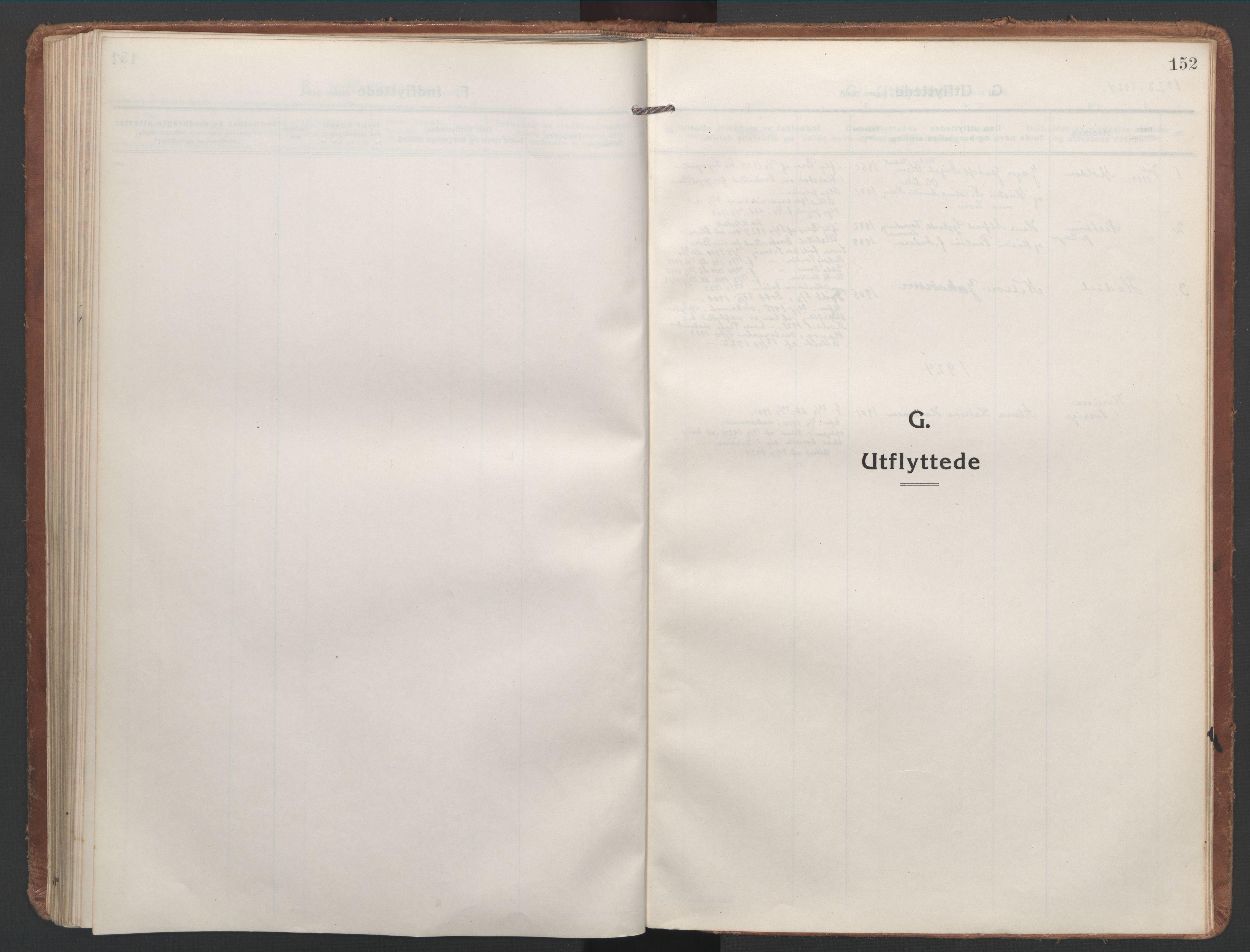SAT, Ministerialprotokoller, klokkerbøker og fødselsregistre - Nordland, 886/L1222: Parish register (official) no. 886A04, 1914-1926, p. 152