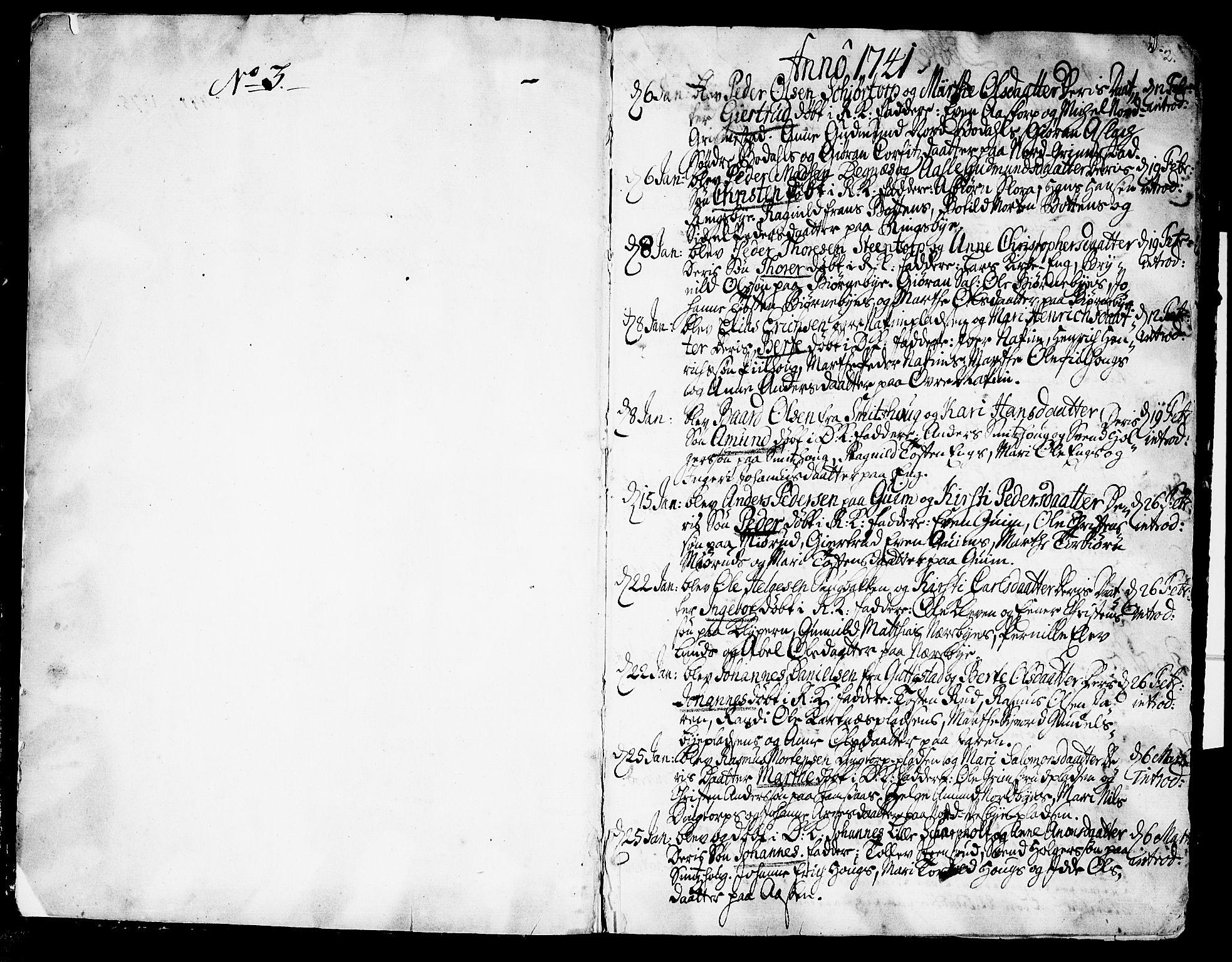 SAO, Rakkestad prestekontor Kirkebøker, F/Fa/L0002: Parish register (official) no. I 2, 1741-1751, p. 2
