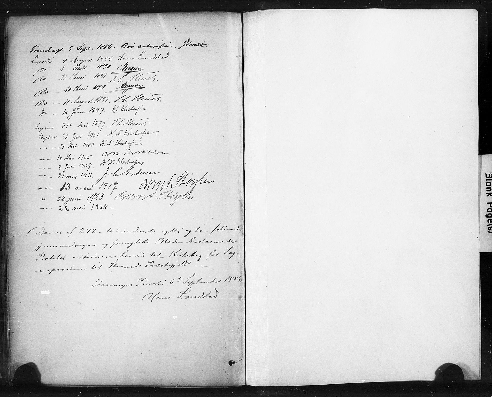 SAST, Strand sokneprestkontor, H/Ha/Haa/L0010: Parish register (official) no. A 10, 1882-1929