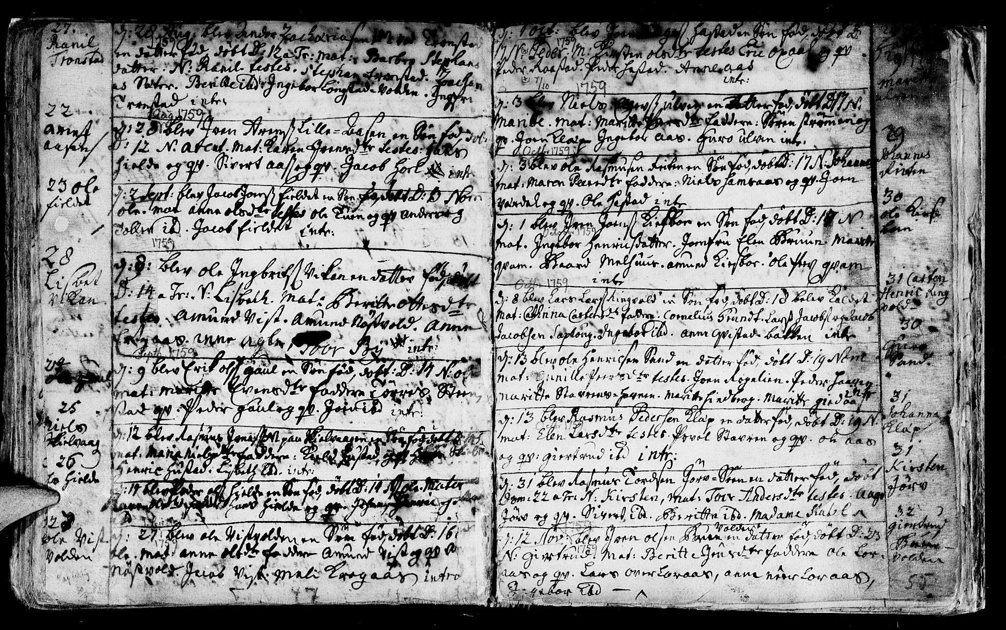 SAT, Ministerialprotokoller, klokkerbøker og fødselsregistre - Nord-Trøndelag, 730/L0272: Parish register (official) no. 730A01, 1733-1764, p. 139