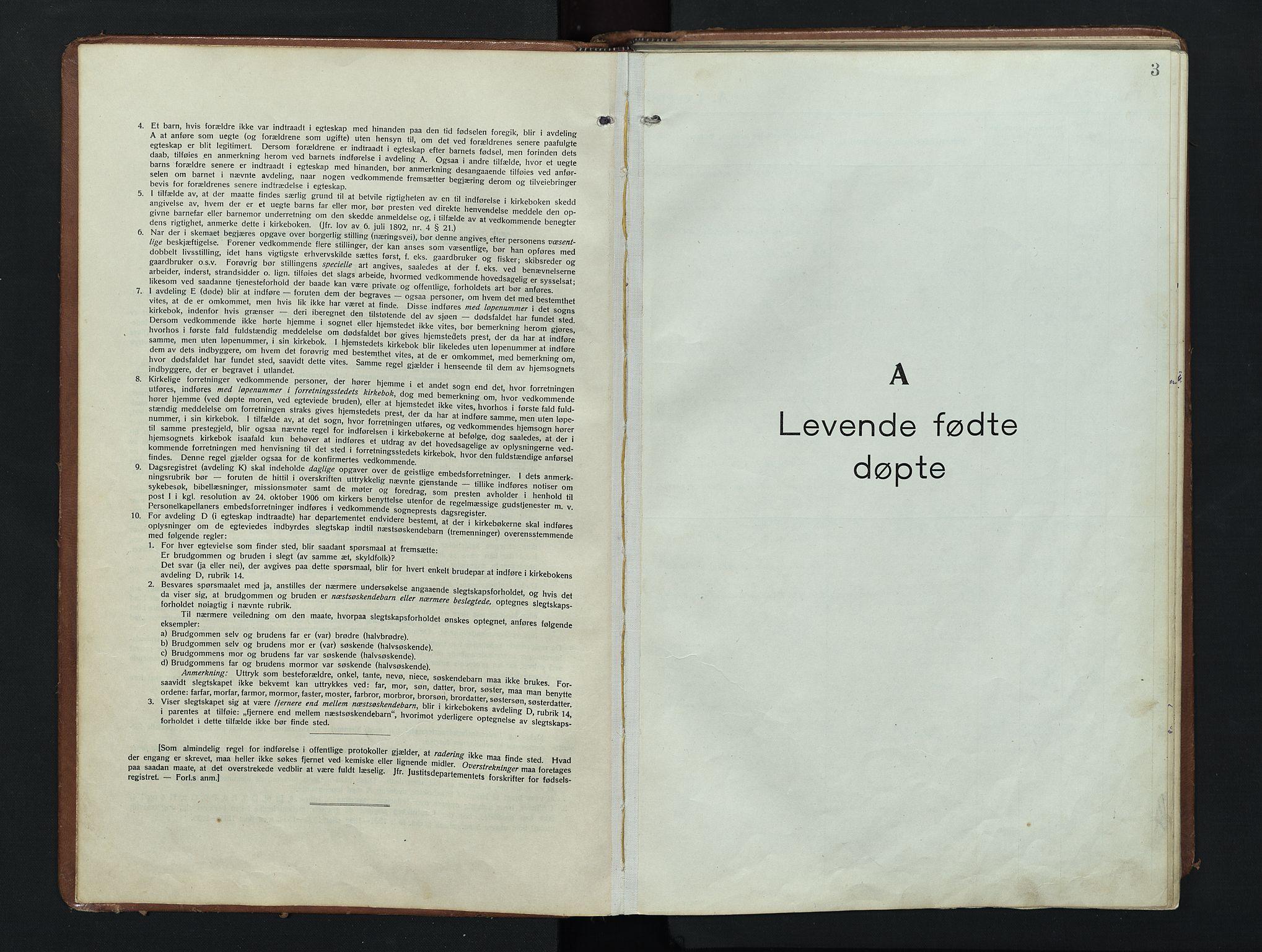 SAH, Nordre Land prestekontor, Parish register (copy) no. 9, 1921-1956, p. 3