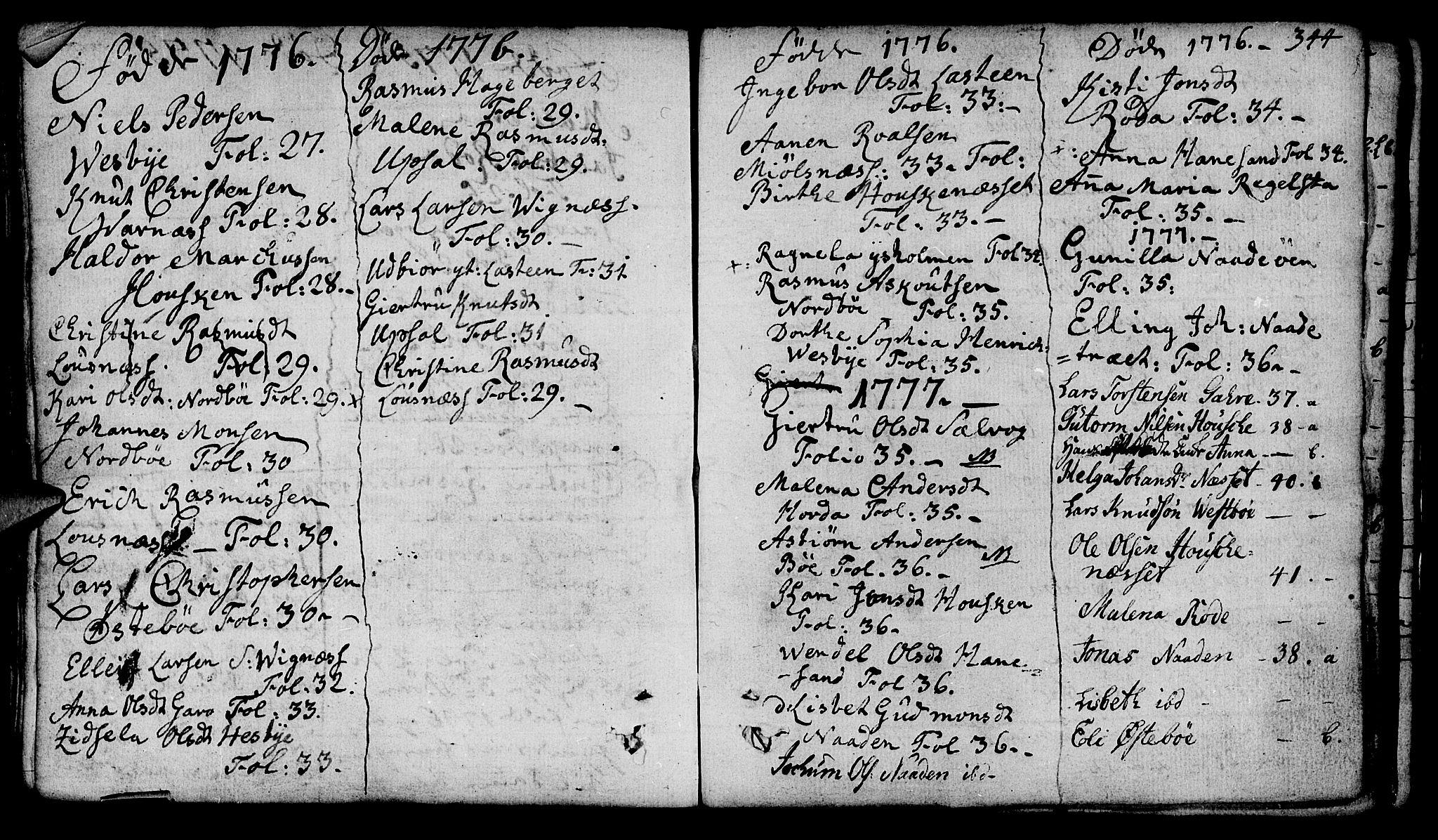 SAST, Finnøy sokneprestkontor, H/Ha/Haa/L0005: Parish register (official) no. A 5, 1773-1816, p. 344
