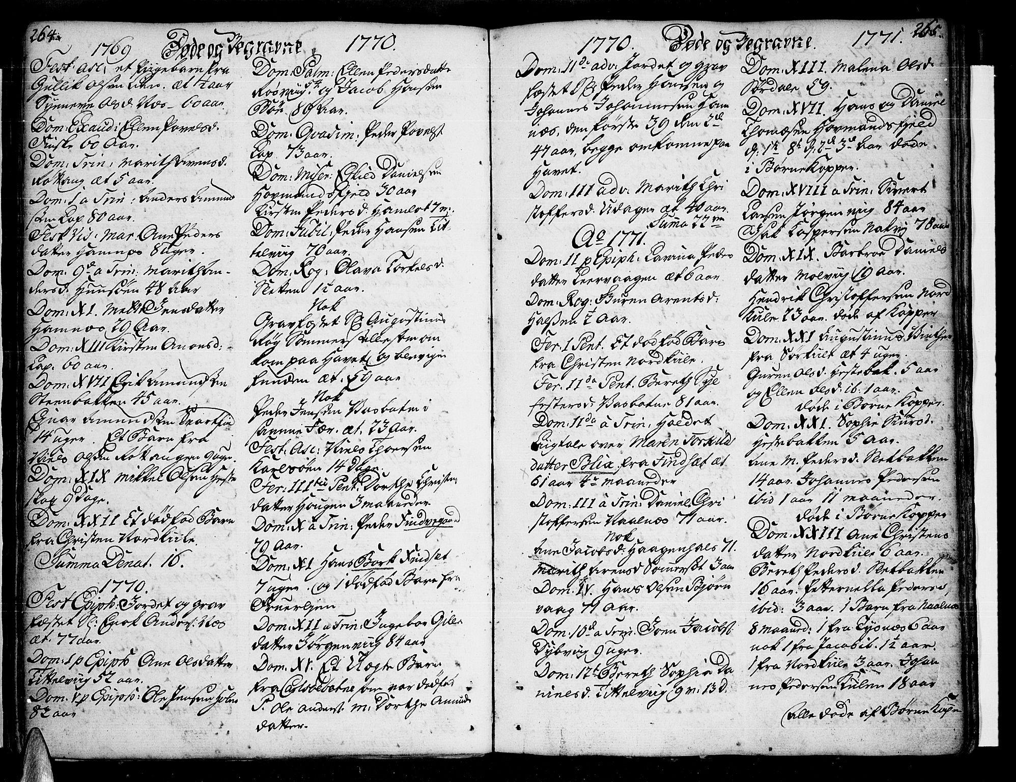 SAT, Ministerialprotokoller, klokkerbøker og fødselsregistre - Nordland, 859/L0841: Parish register (official) no. 859A01, 1766-1821, p. 264-265