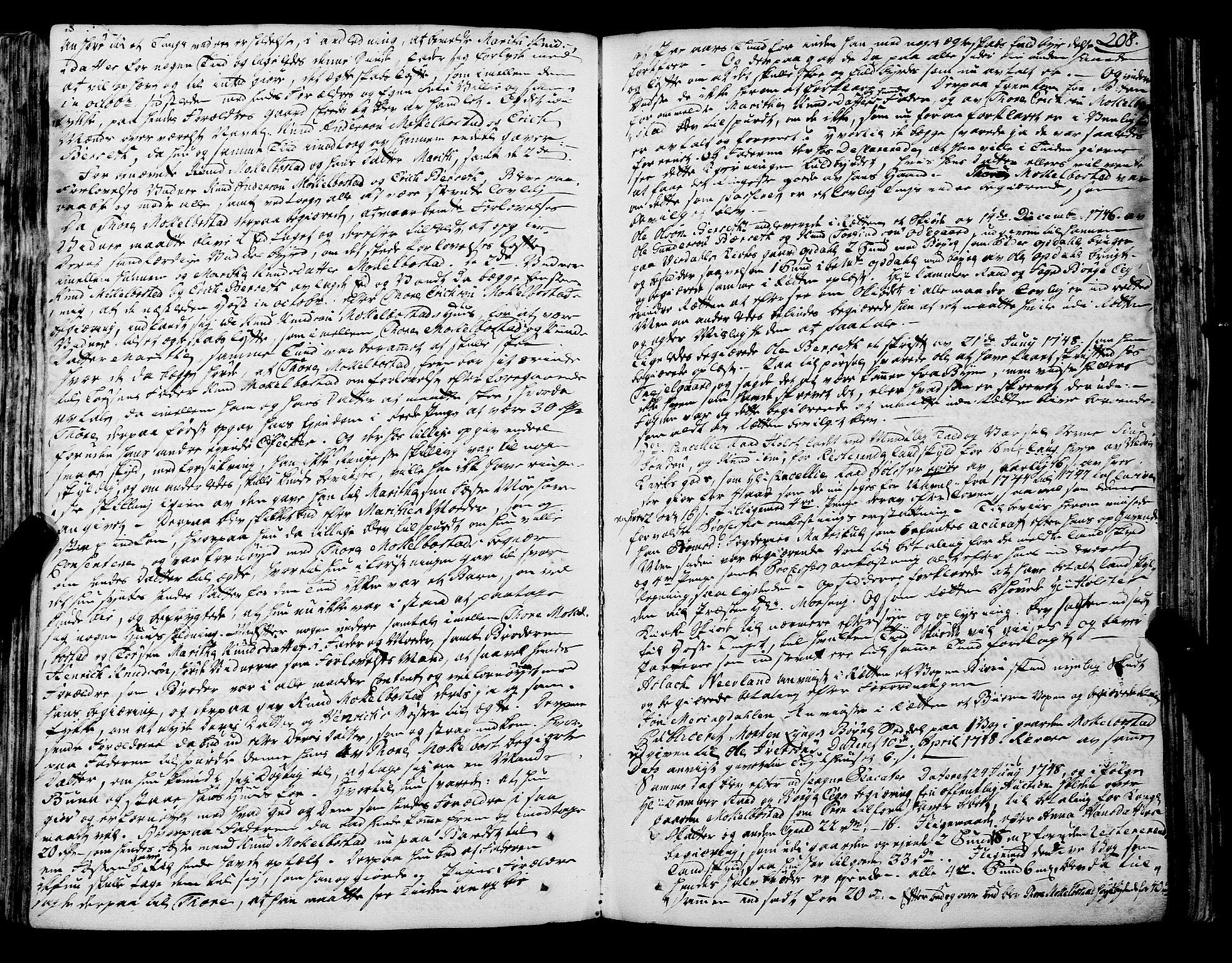 SAT, Romsdal sorenskriveri, 1/1A/L0012: Tingbok, 1740-1749, p. 208b-209a