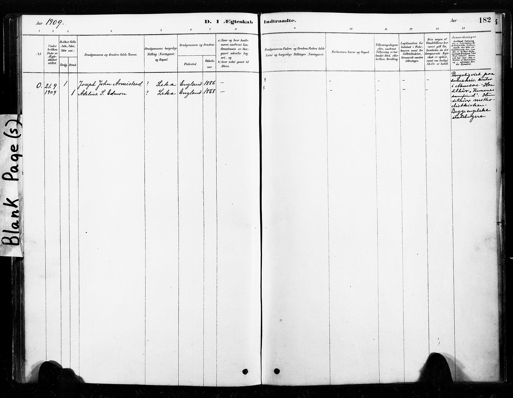 SAT, Ministerialprotokoller, klokkerbøker og fødselsregistre - Nord-Trøndelag, 789/L0705: Parish register (official) no. 789A01, 1878-1910, p. 182