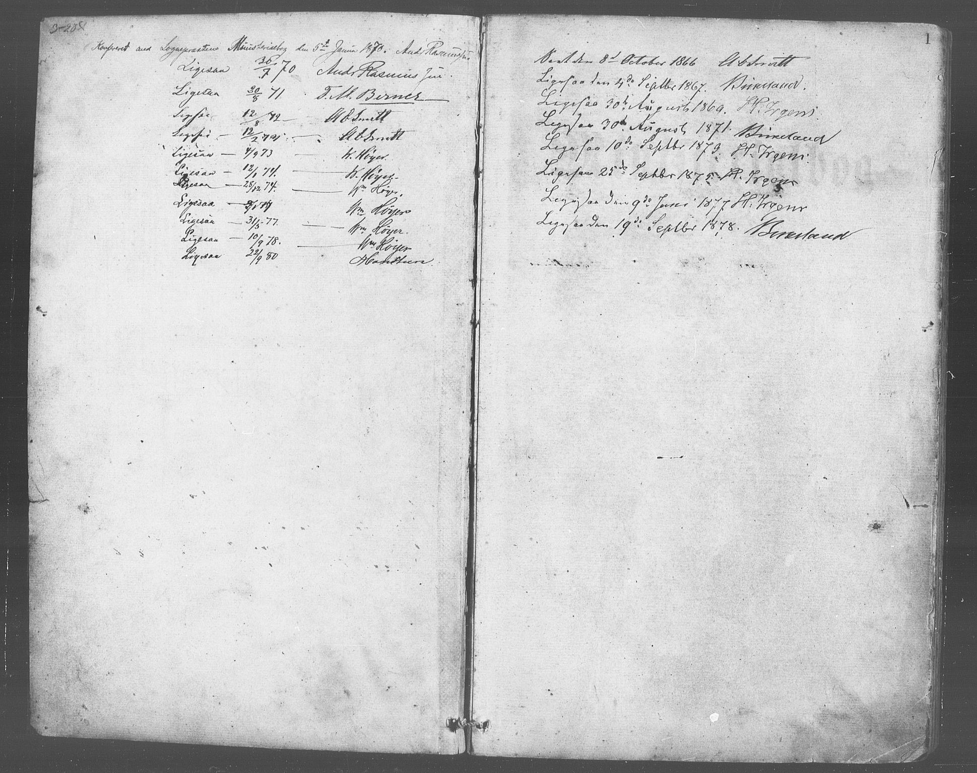 SAB, Evanger sokneprestembete*, Parish register (copy) no. A 2, 1863-1879, p. 1