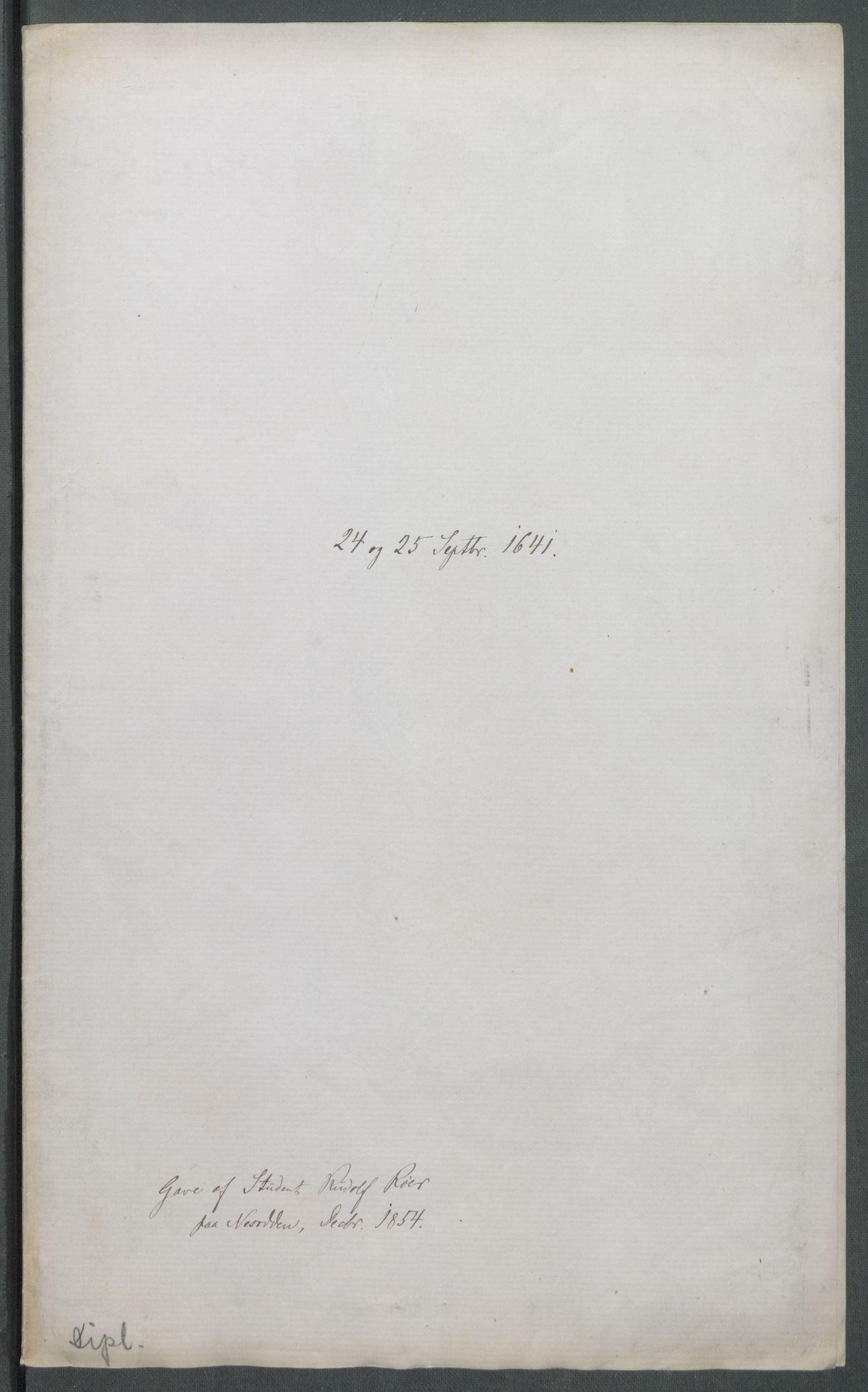 RA, Riksarkivets diplomsamling, F02/L0154: Dokumenter, 1641, p. 42