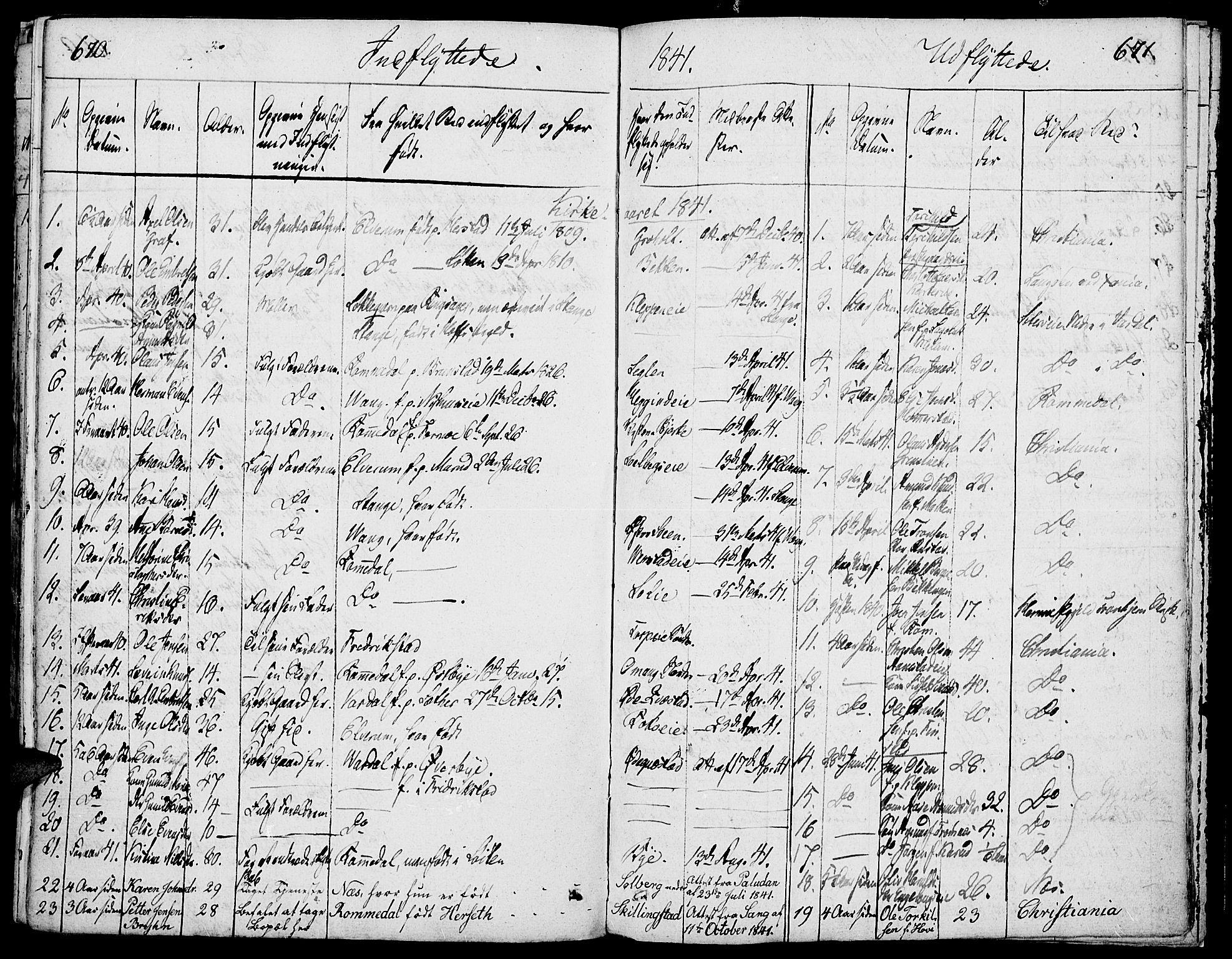 SAH, Løten prestekontor, K/Ka/L0006: Parish register (official) no. 6, 1832-1849, p. 670-671