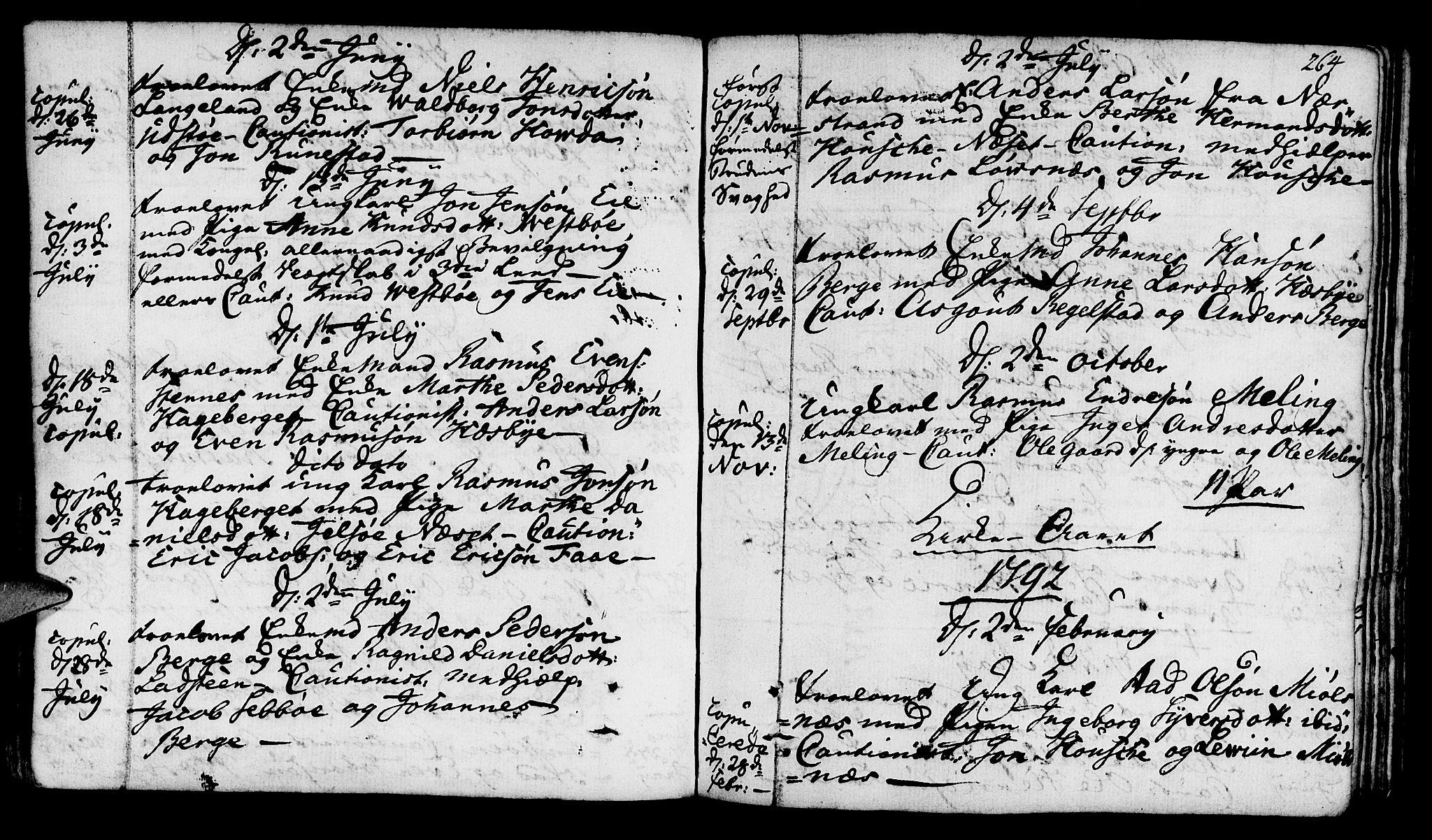 SAST, Finnøy sokneprestkontor, H/Ha/Haa/L0005: Parish register (official) no. A 5, 1773-1816, p. 264
