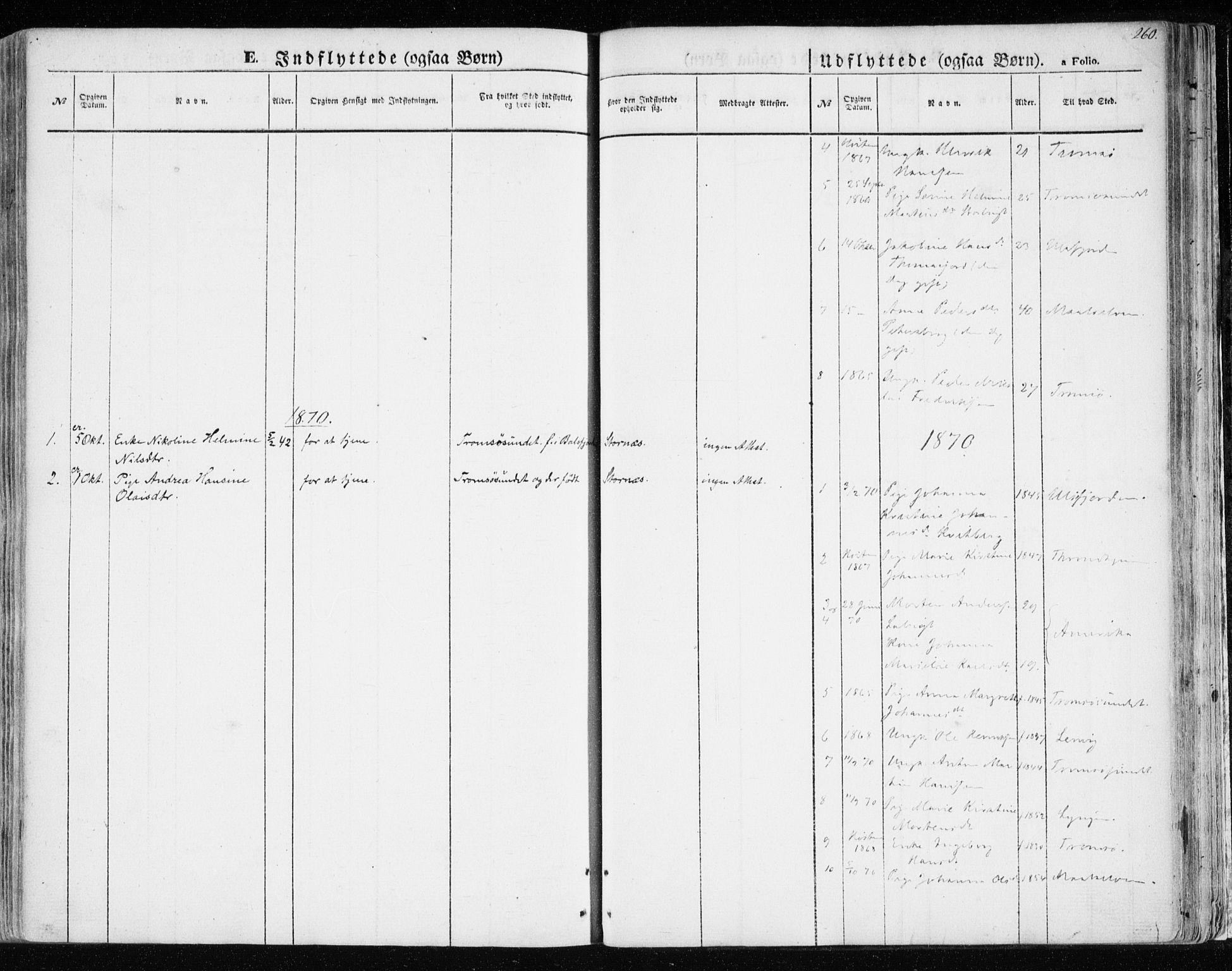 SATØ, Balsfjord sokneprestembete, Parish register (official) no. 3, 1856-1870, p. 260